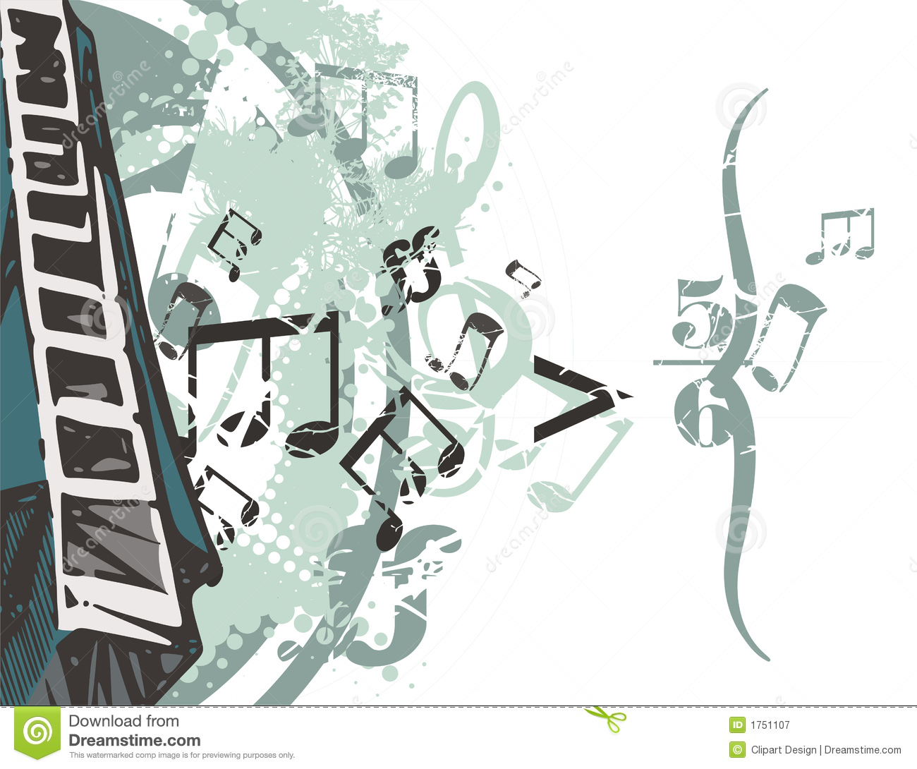 Music Instrument Background Stock Vector Illustration Of March
