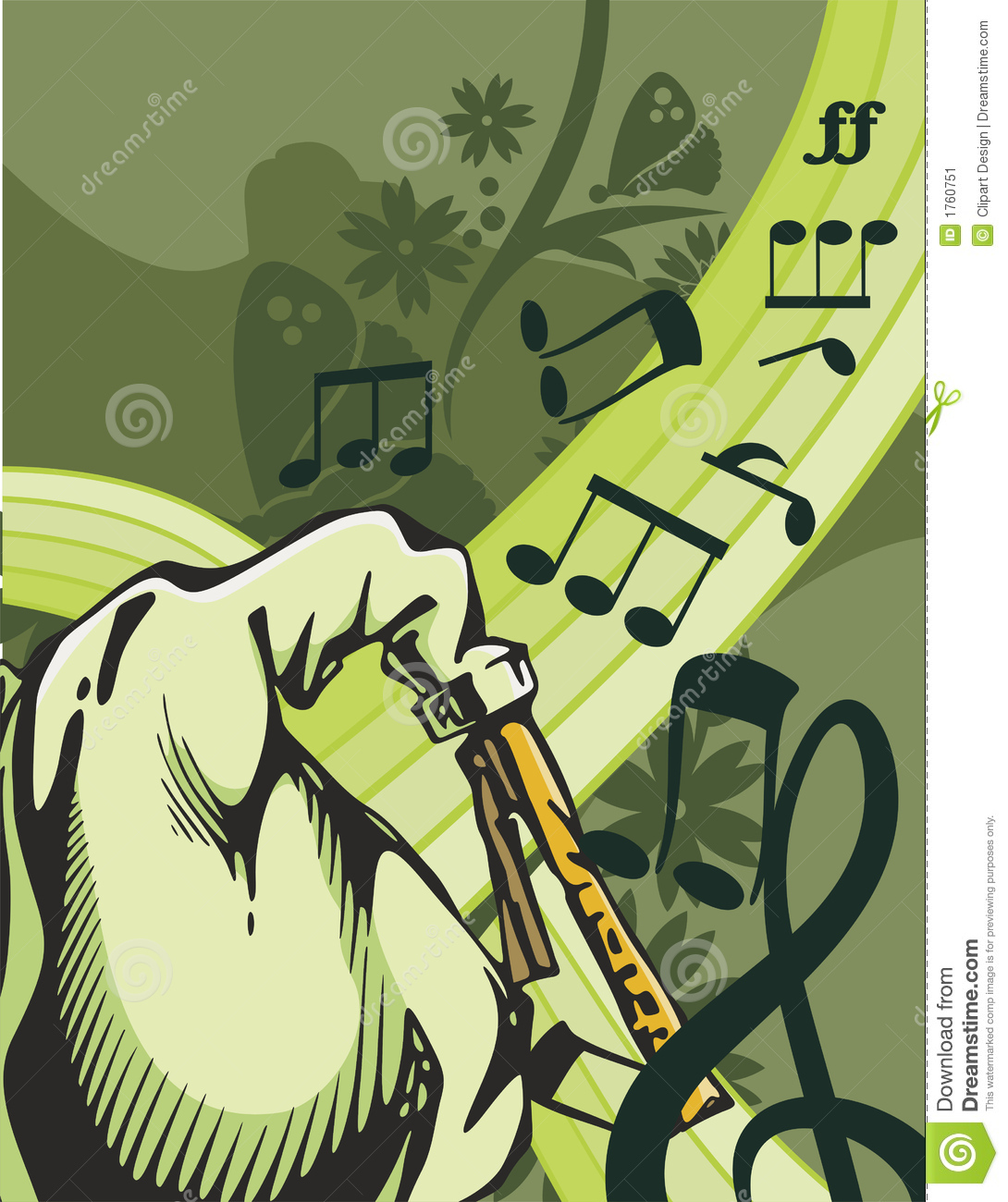 Download Music Instrument Background Stock Vector - Illustration of melodic, orchestra: 1760751