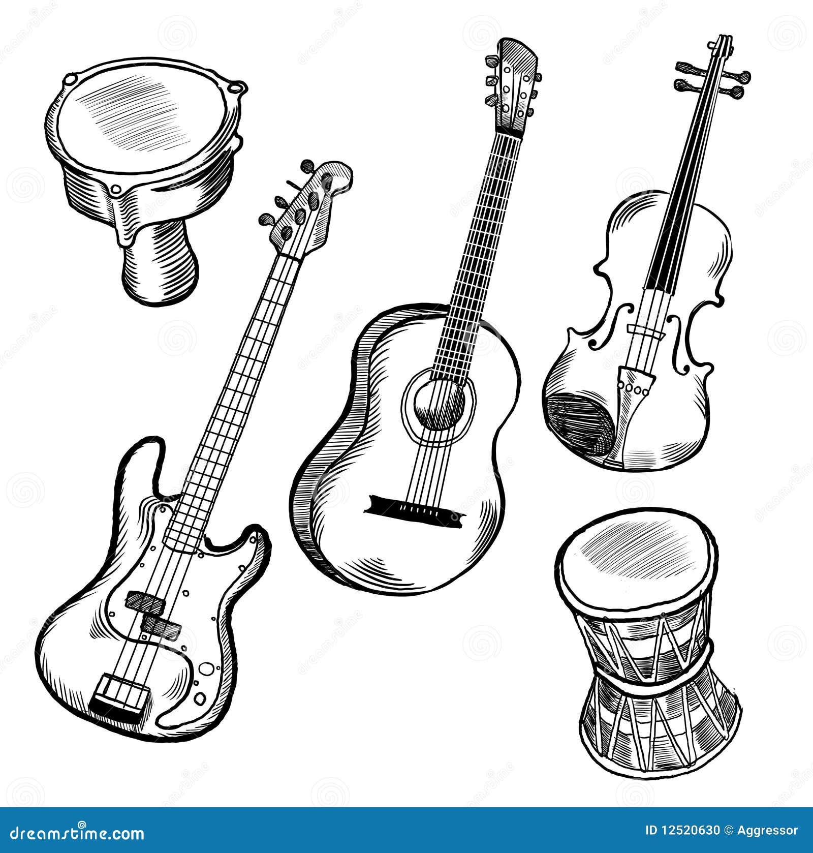 music instruments stock photo
