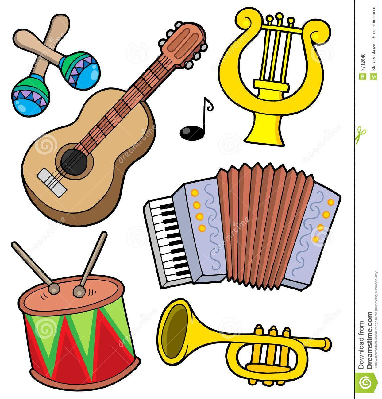 Music Instruments Collection 1 Stock Vector - Illustration