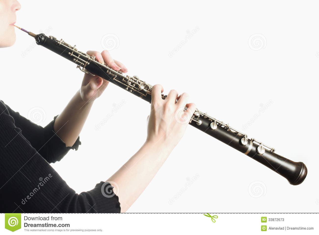 music instruments oboe hands stock photos image 33872673. Black Bedroom Furniture Sets. Home Design Ideas