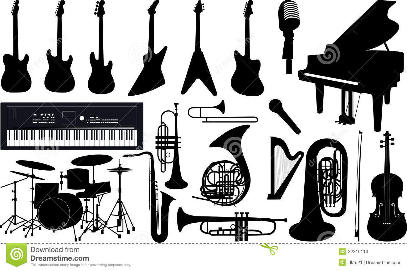 Musical Instruments Music Sheet Notes Oboe Stock Photo - Image ...