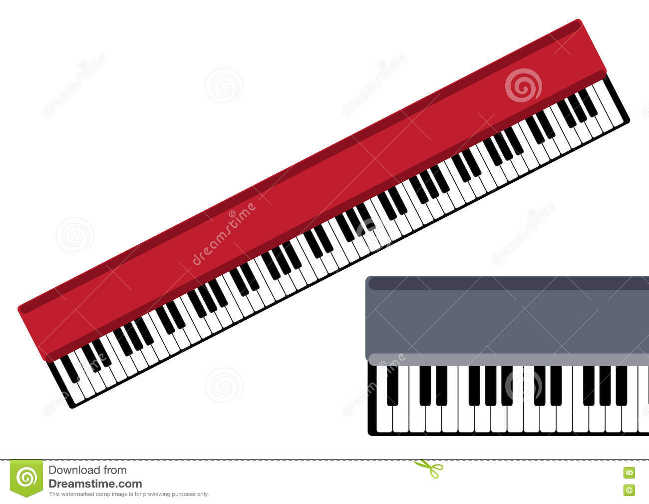 Keys Of Piano Vector Object Stock