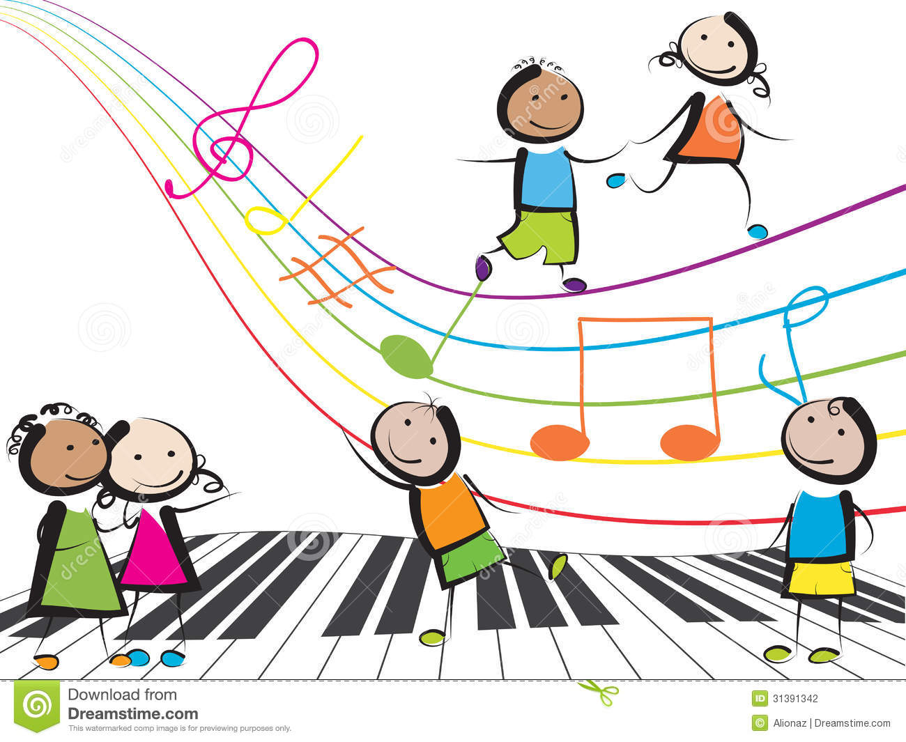 music children clipart background playing clip happy backgrounds musik kinder jumping silhouettes powerpoint child clipground hands around dreamstime