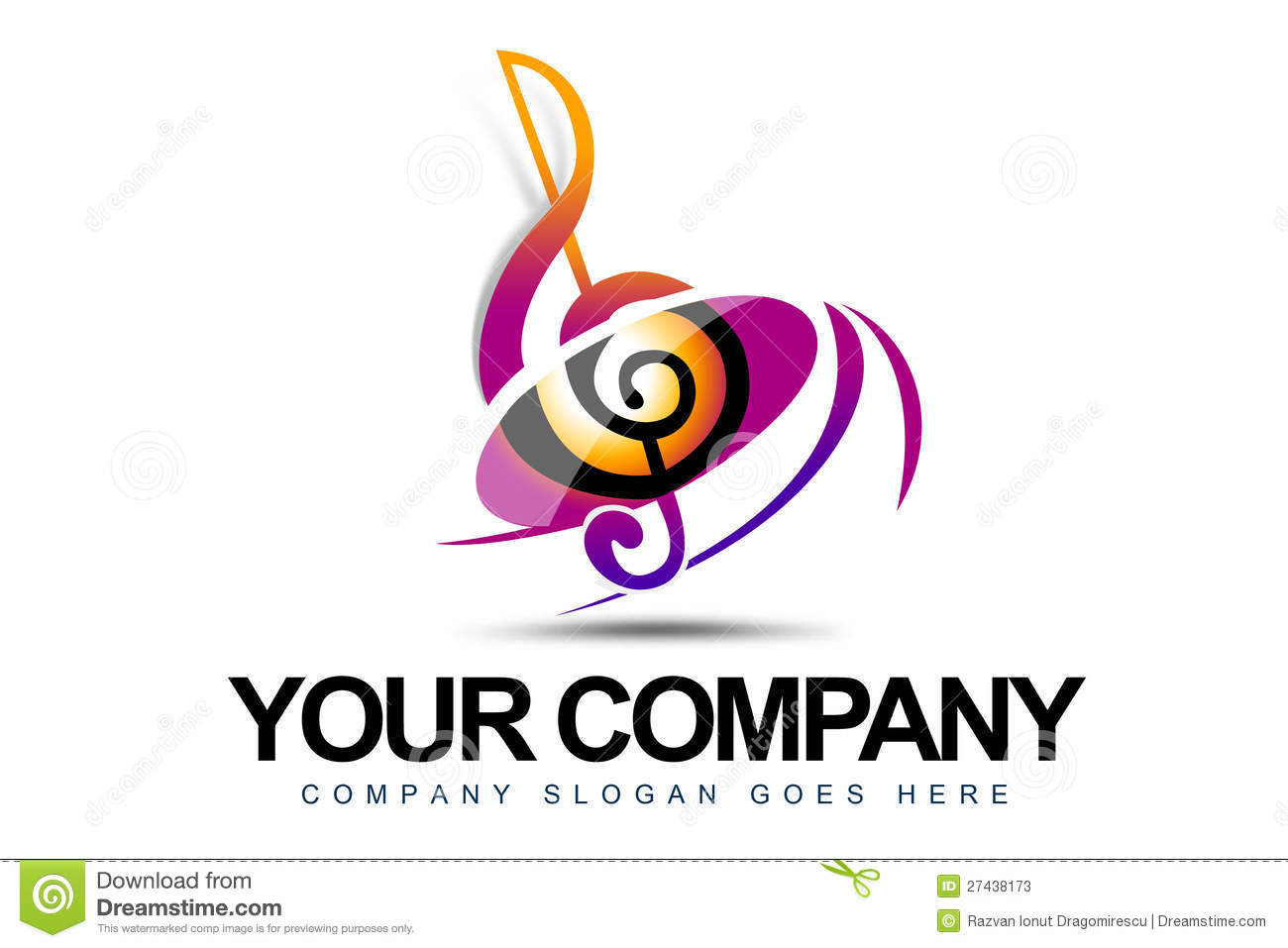 Music Logo Stock Photos - Image: 27438173