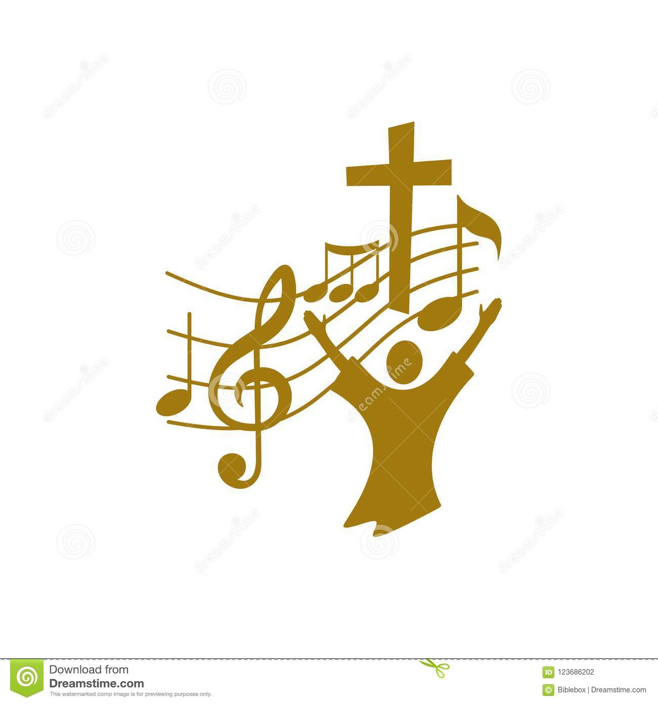 Music Logo Christian Symbols The Believer Worships Jesus Christ