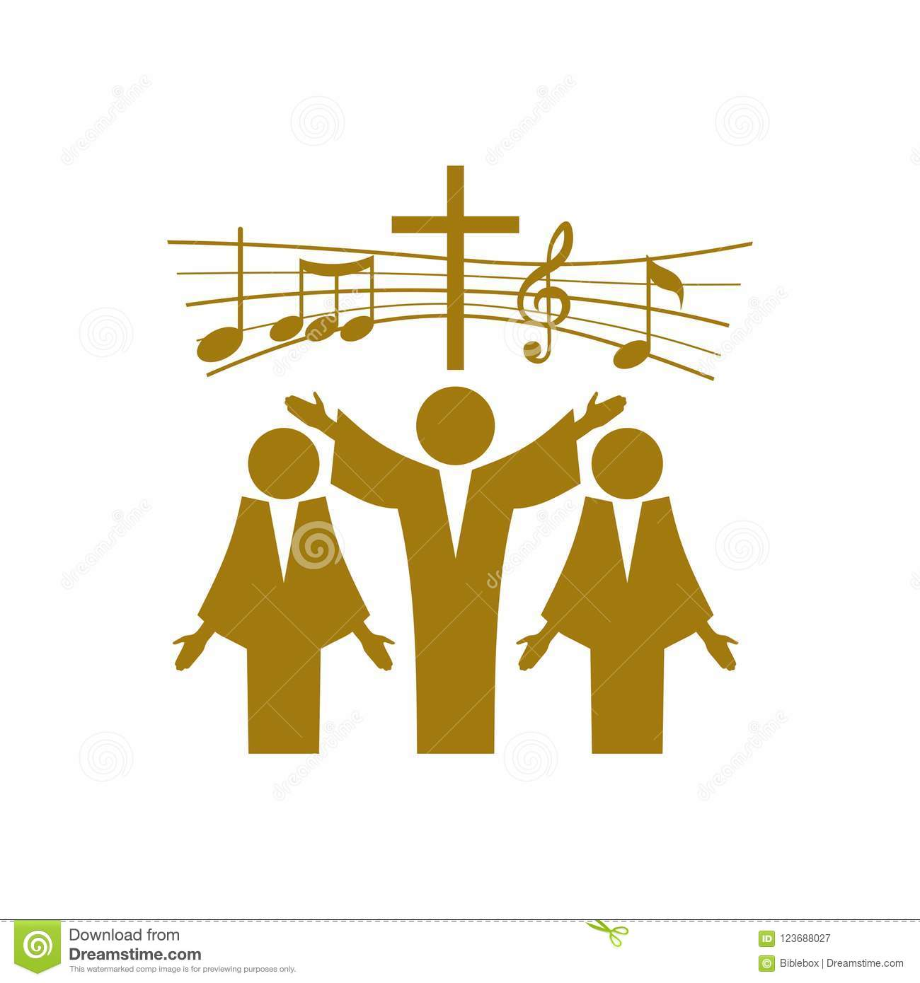 Music Logo  Christian Symbols  Believers In Jesus Sing A