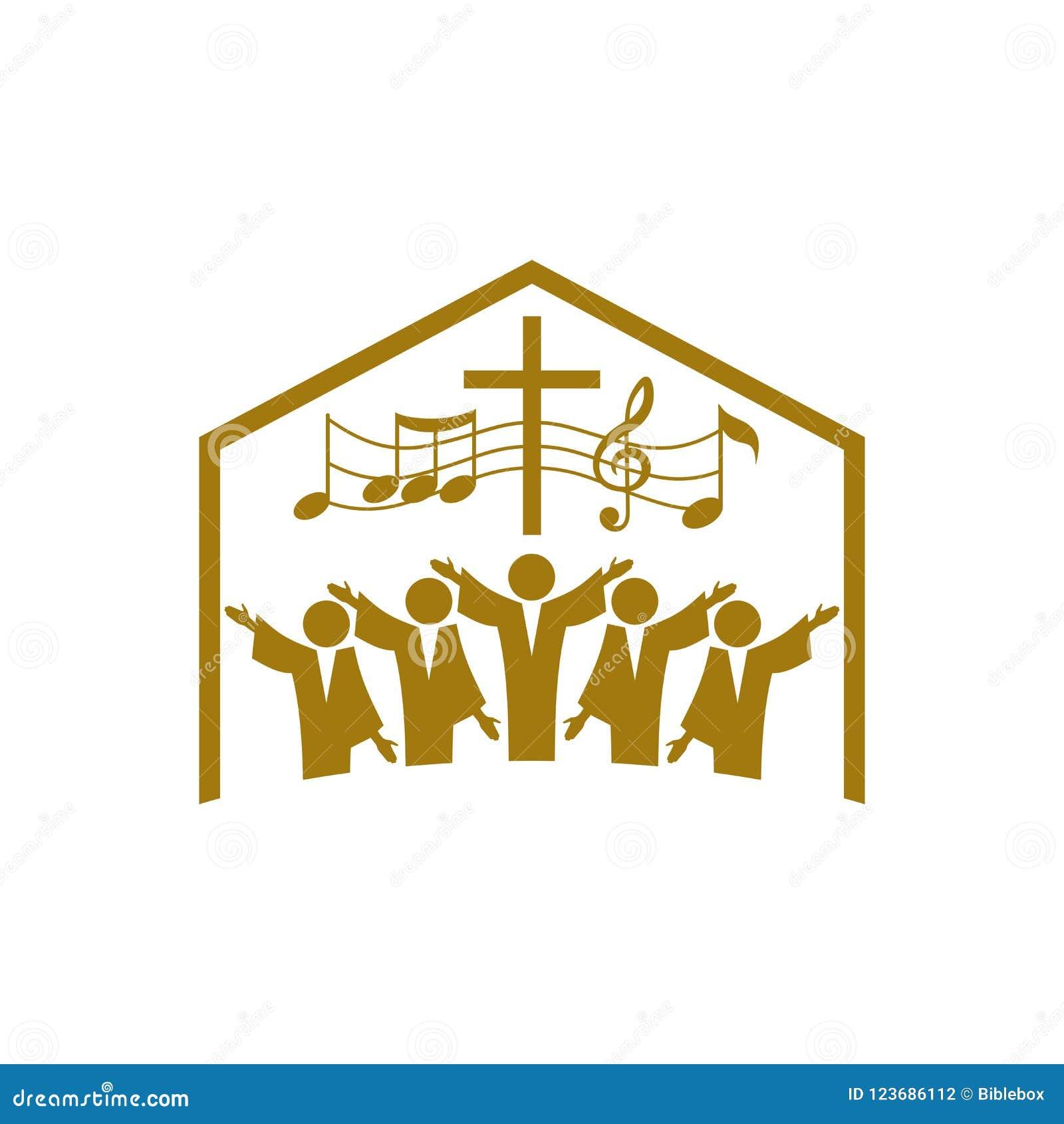 Music Logo  Christian Symbols  The Church Of God Sings To