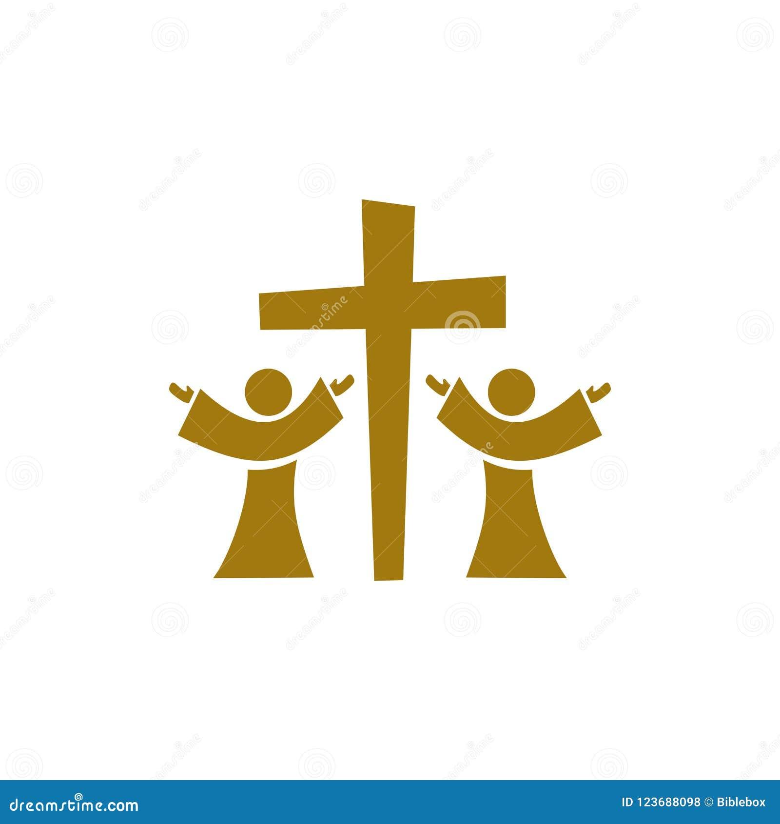 Music Logo Christian Symbols People Worship Jesus Christ Stock