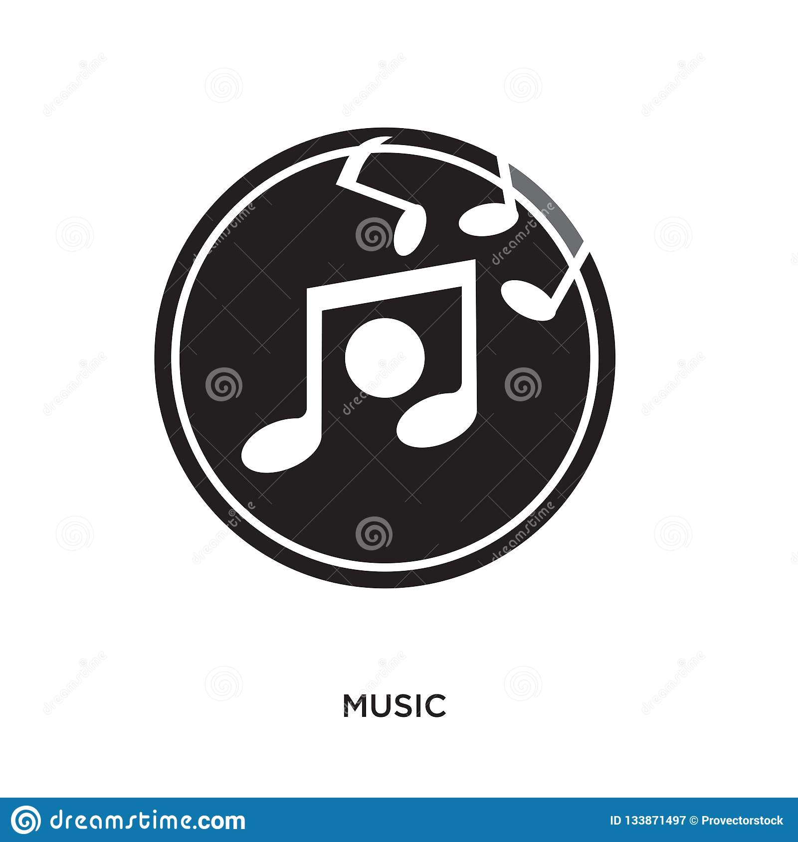 Music Logo Png Stock Vector Illustration Of Illustration 133871497