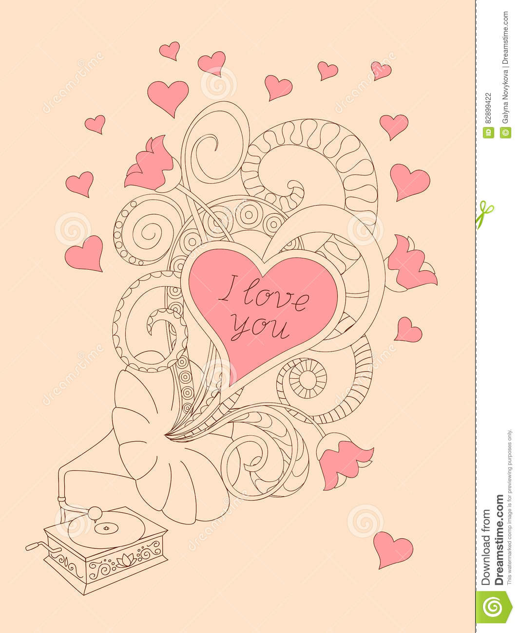 Music Love You Stock Vector Illustration Of Leaflet 82899422