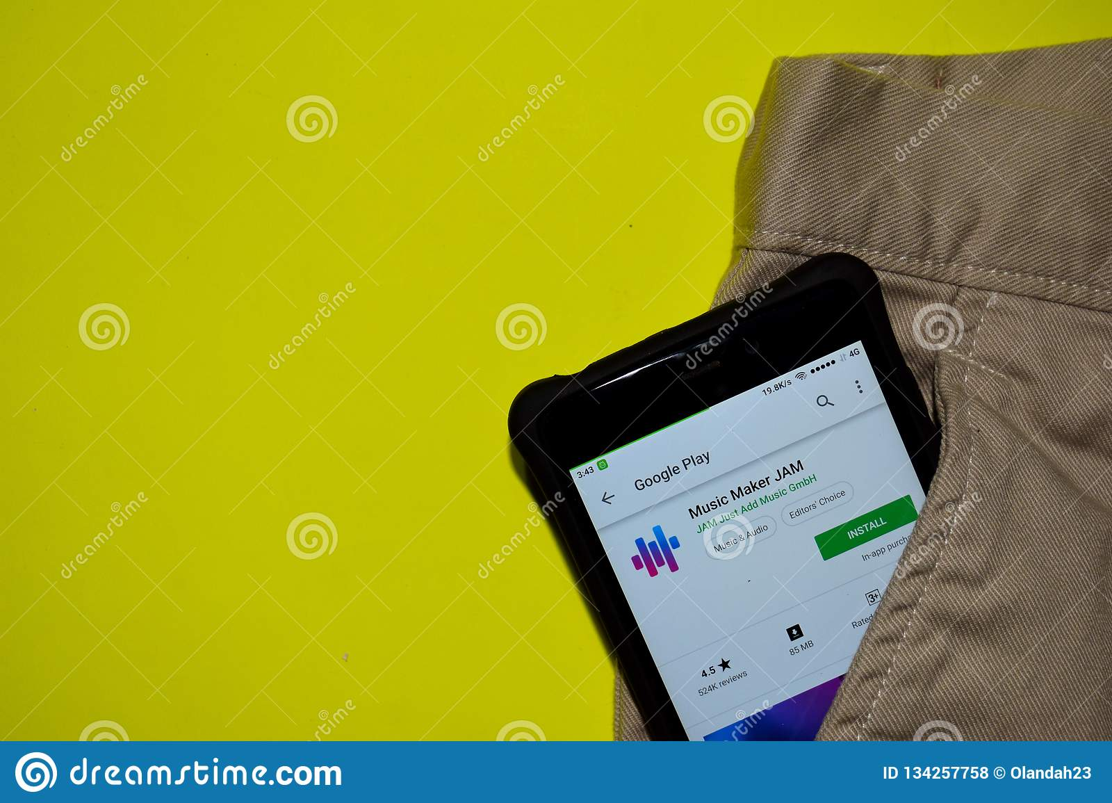 Music Maker Jam Dev Application On Smartphone Screen Editorial Stock Photo Image Of Browser 2018 134257758