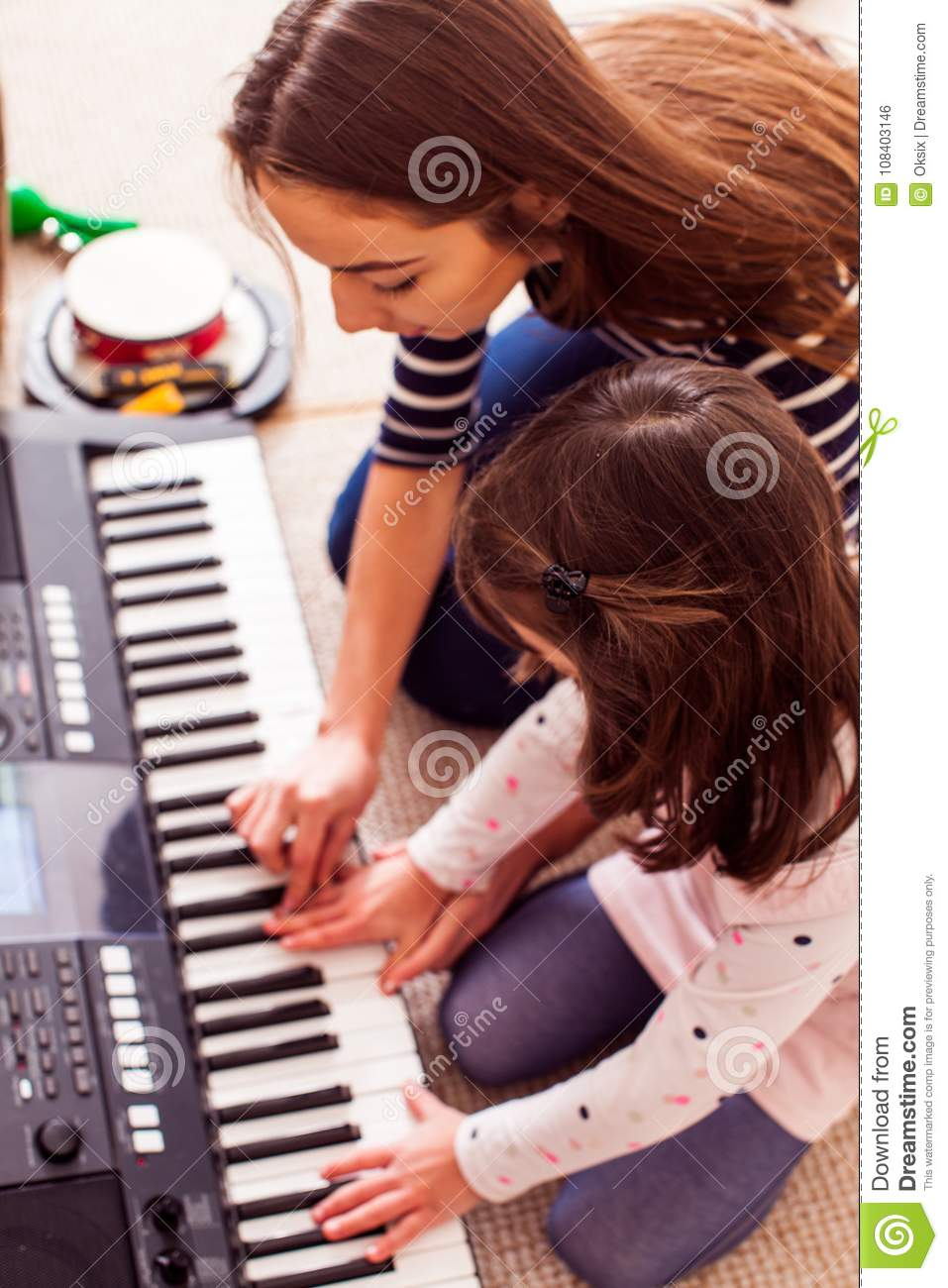Music making lesson stock photo  Image of background - 108403146