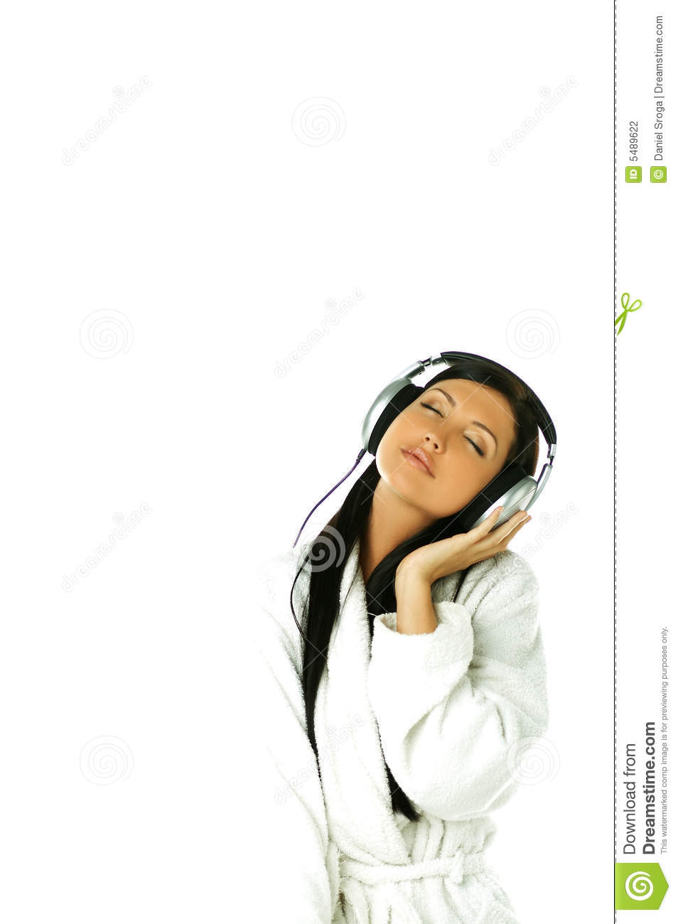 Download Music and me stock photo. Image of headphones, music, gorgeous - 5489622
