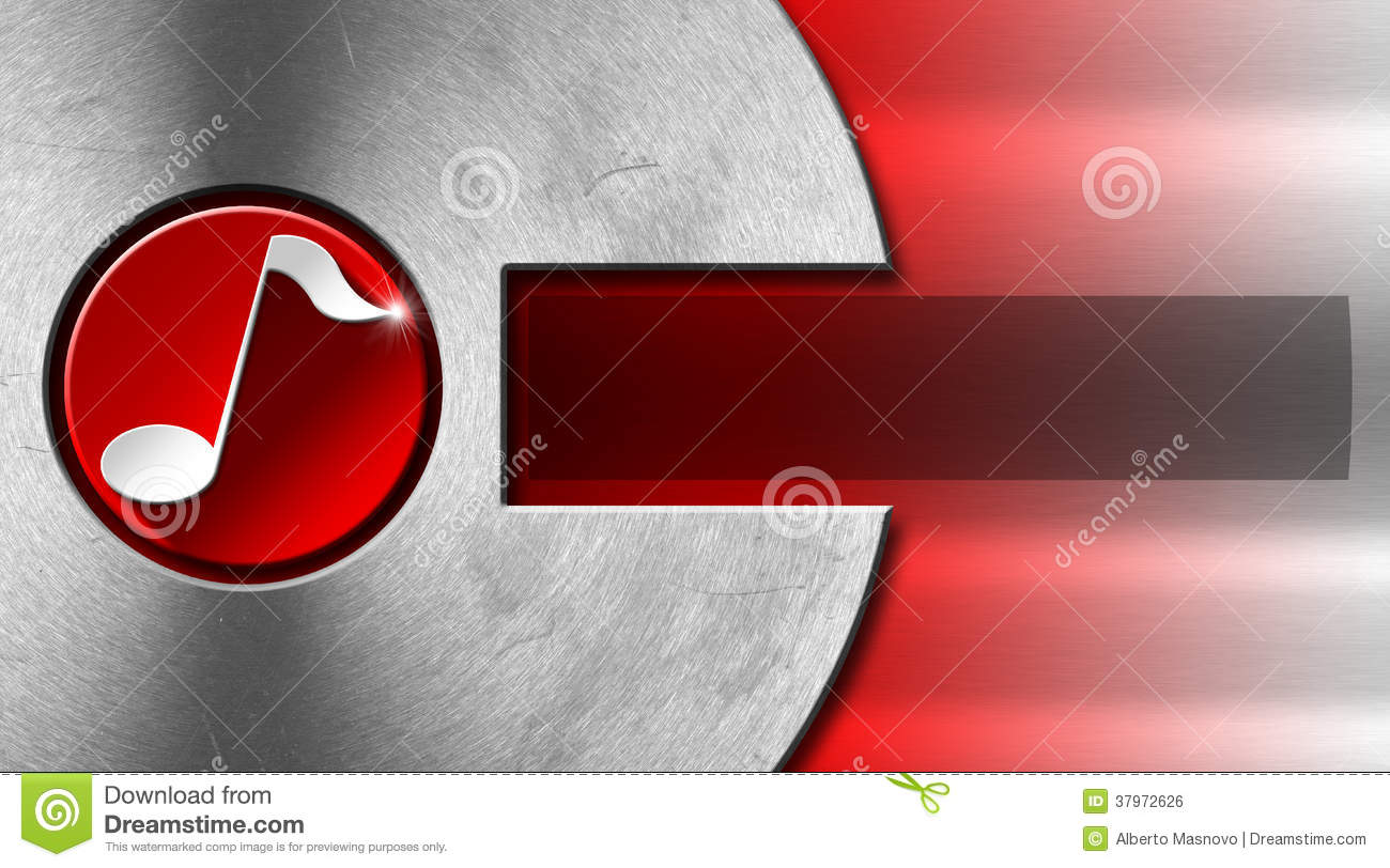 Music metal and red business card royalty free stock image for Music business card background