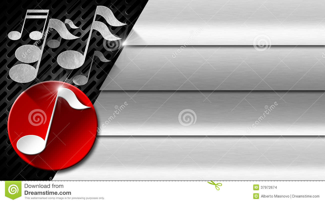 Music metal and red business card for Music business card background