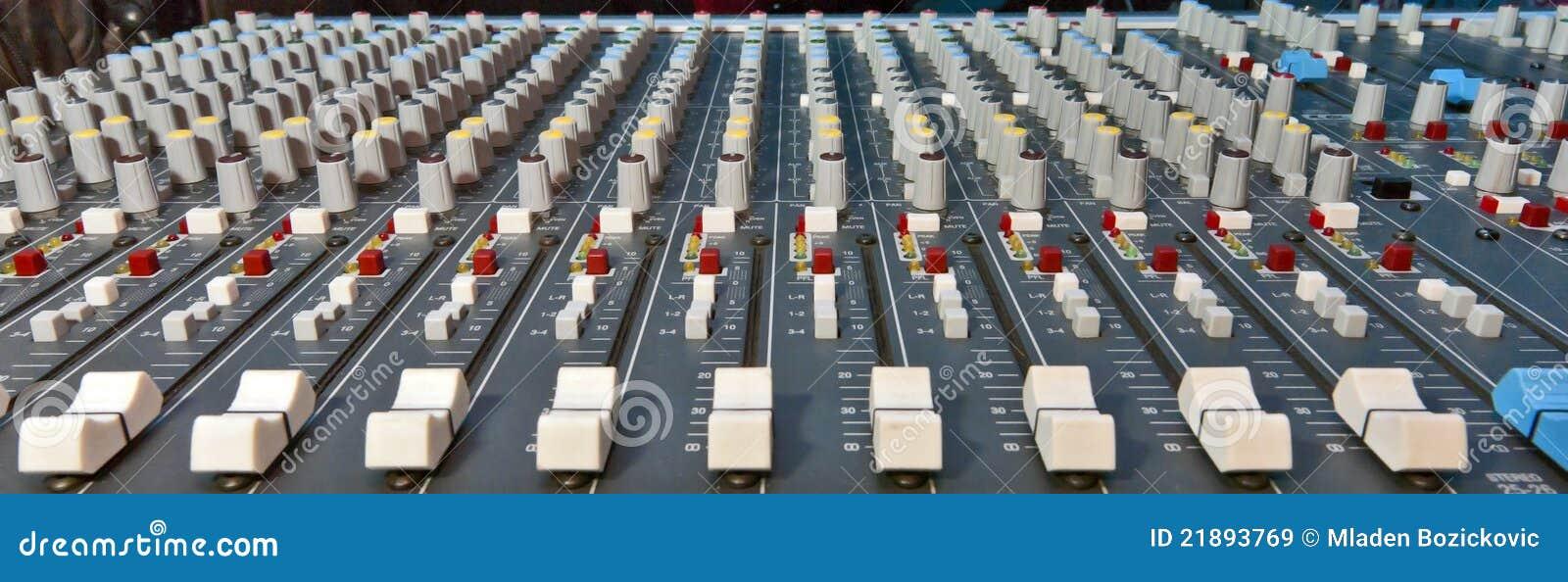 Music mixer stock image  Image of bass, disco, editing - 21893769
