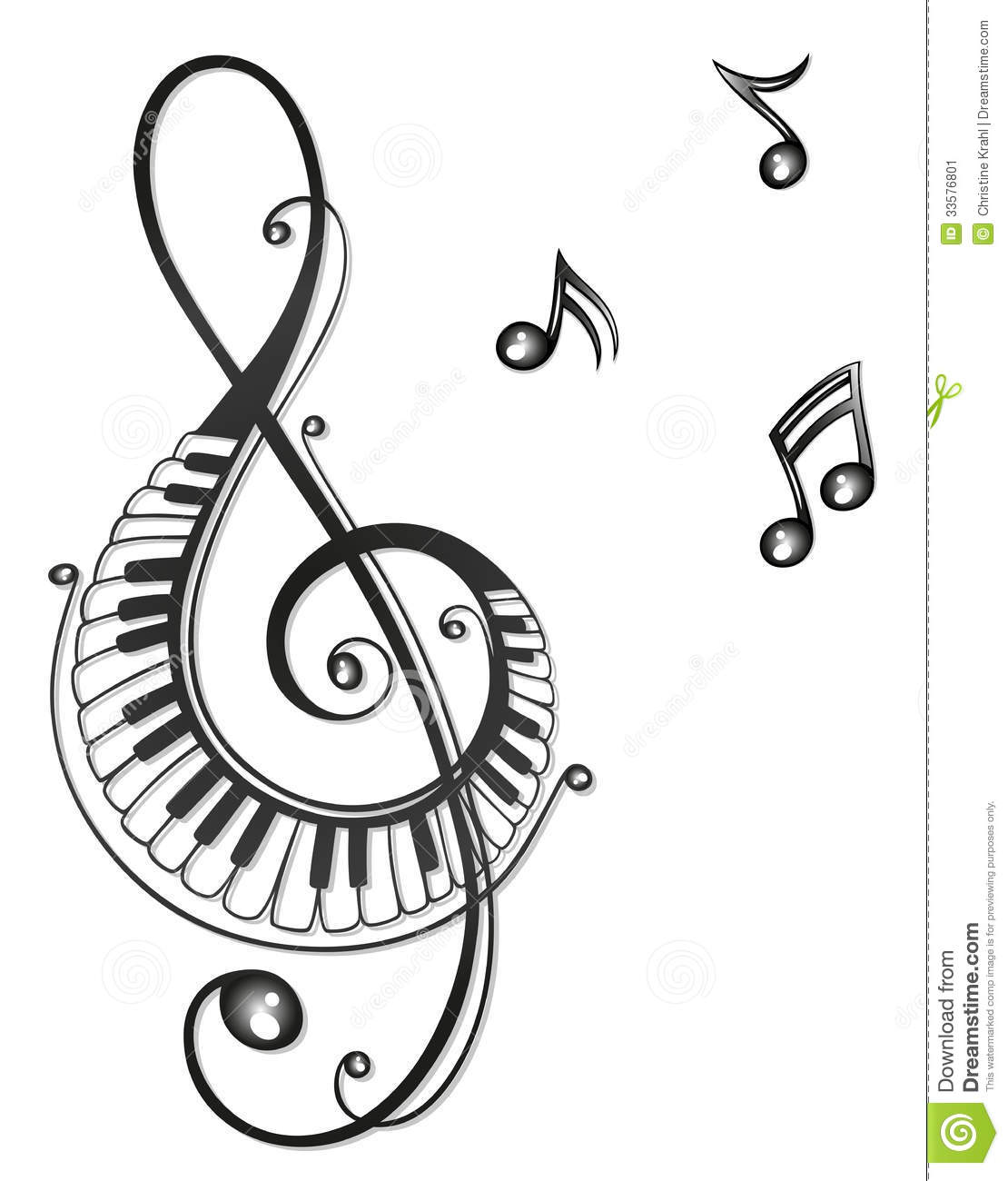 Music Music Notes Clef Stock Image Image 33576801