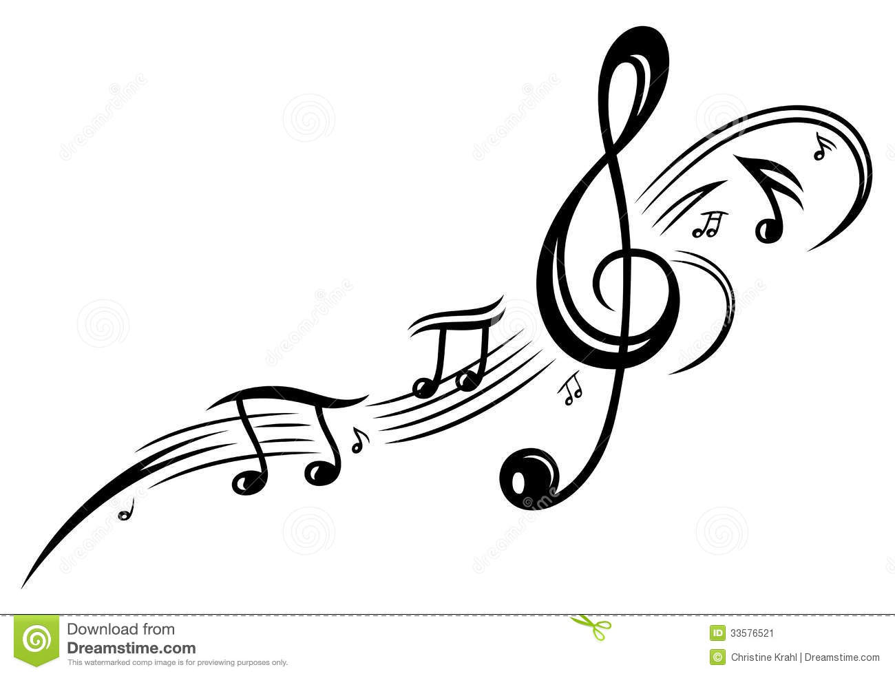 Music Music Notes Clef Stock Image Image 33576521