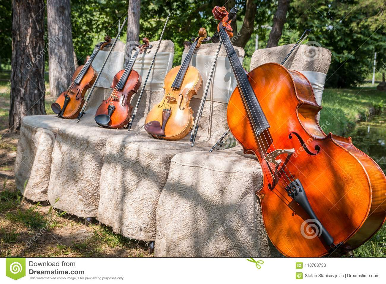 Music Instruments In Nature Stock Image - Image of daylight