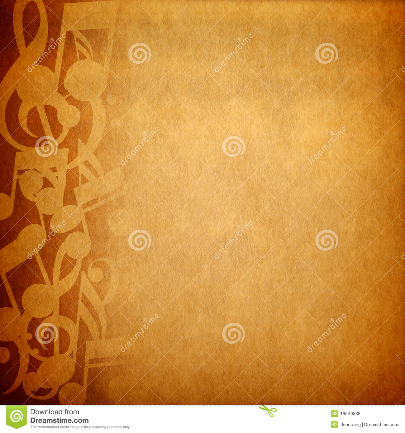 Music note background stock photo Image of abstract 19549888