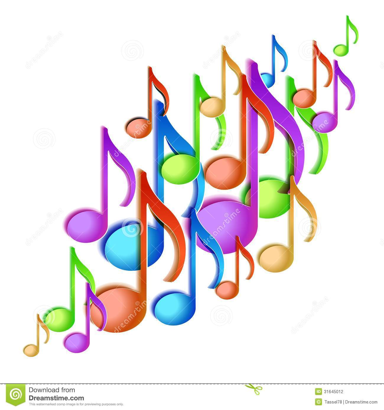 Musical notes staff background on white vector by tassel78 image - Background Design Illustration Music Note