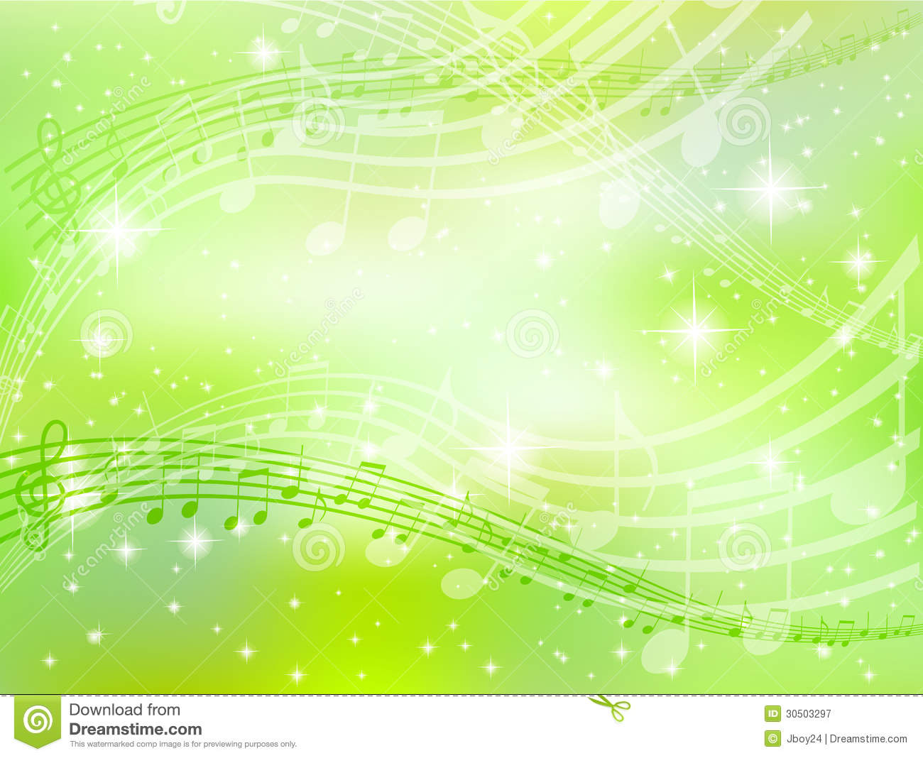 Music Note Background Green Royalty Free Stock Photography - Image ...