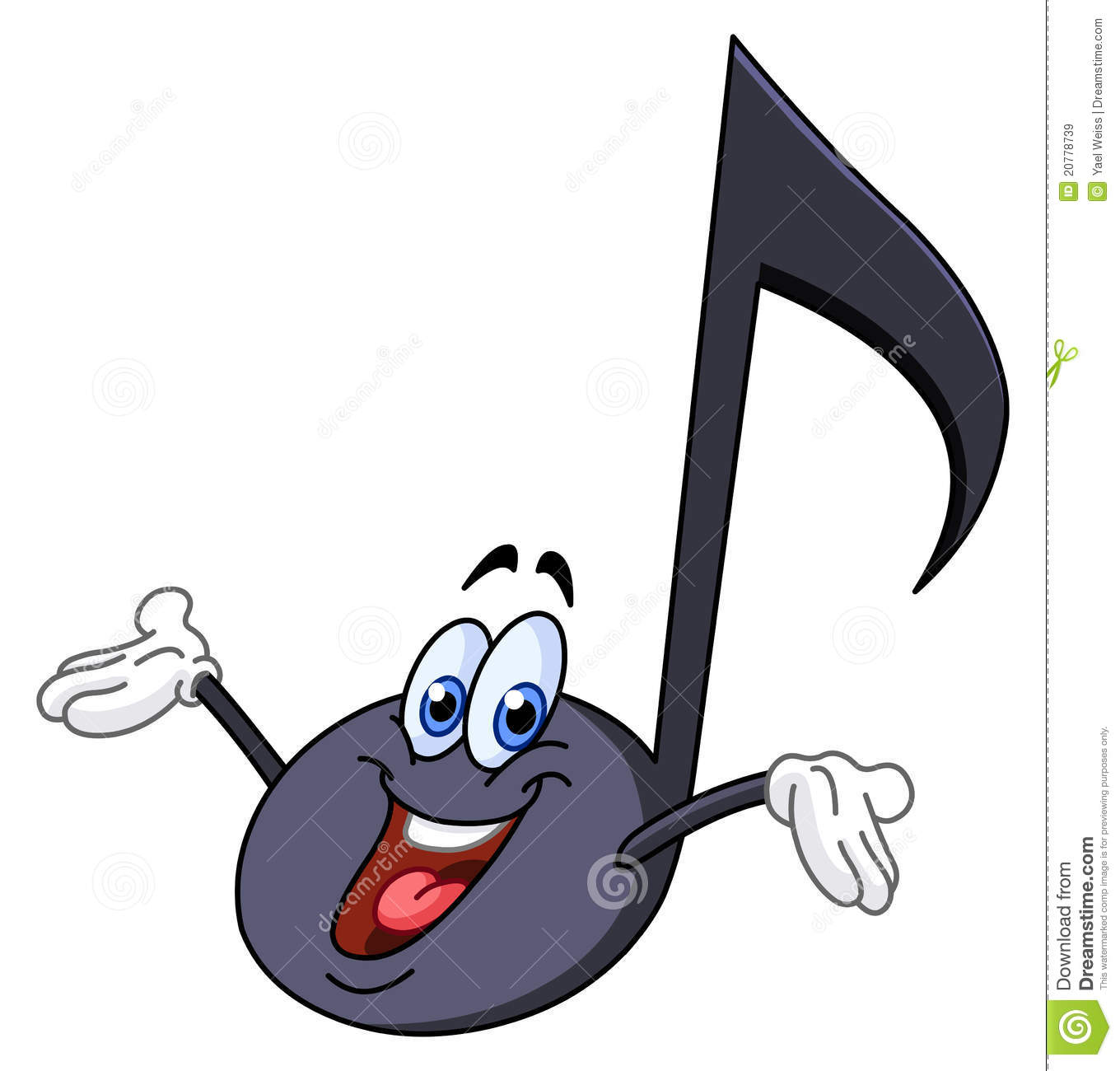 Music Note Cartoon Royalty Free Stock Images - Image: 20778739
