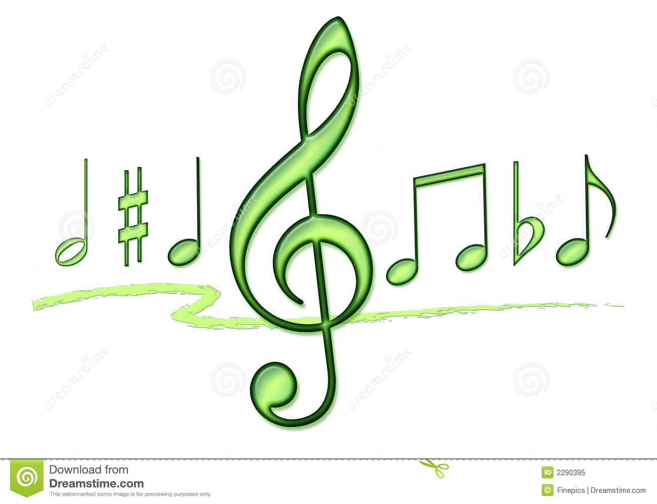Music Note Collage Royalty Free Stock Photo - Image: 2290395