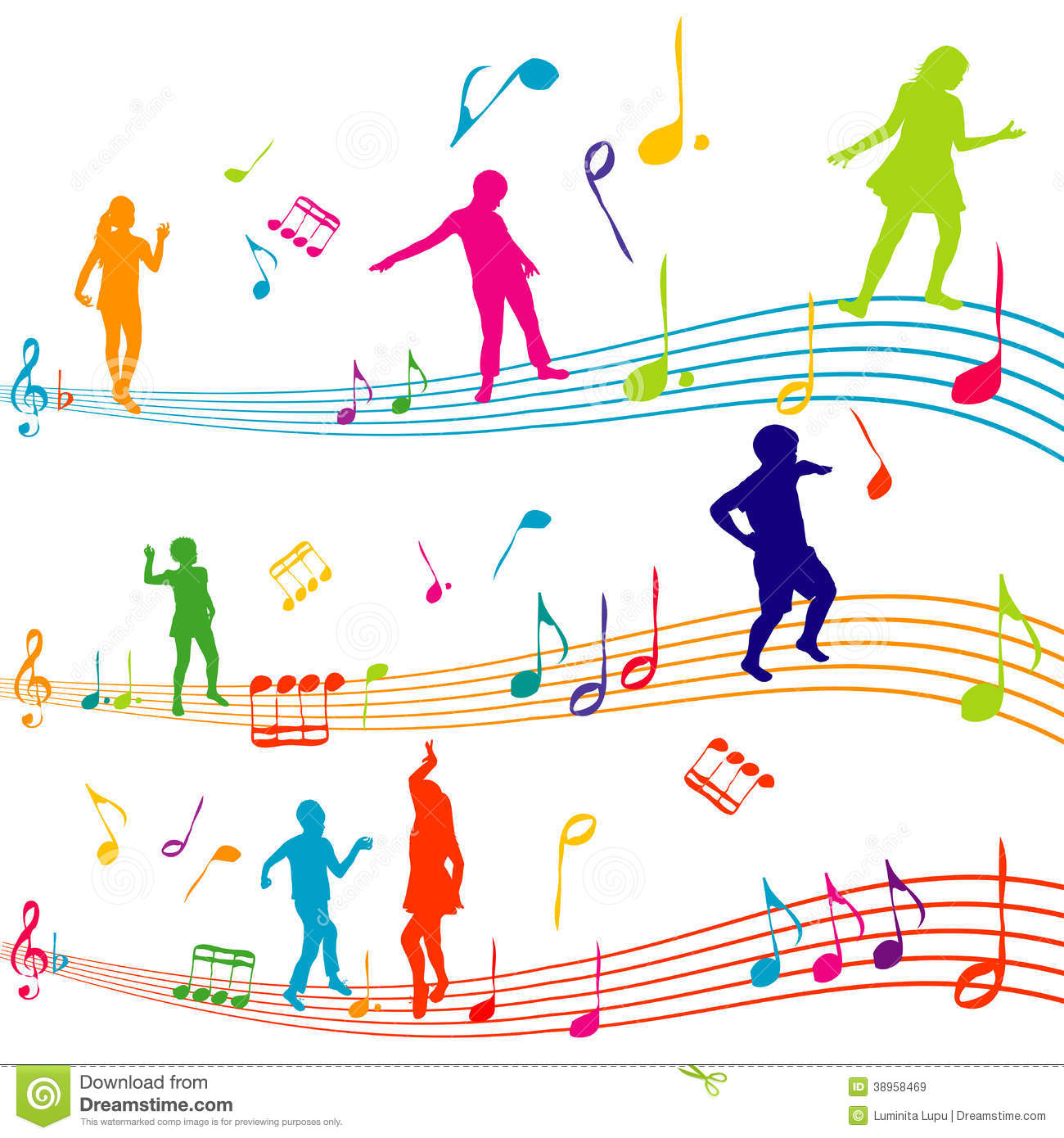 Music Note With Kids Silhouettes Dancing Stock Illustration - Image ...: https://www.dreamstime.com/royalty-free-stock-images-music-note...