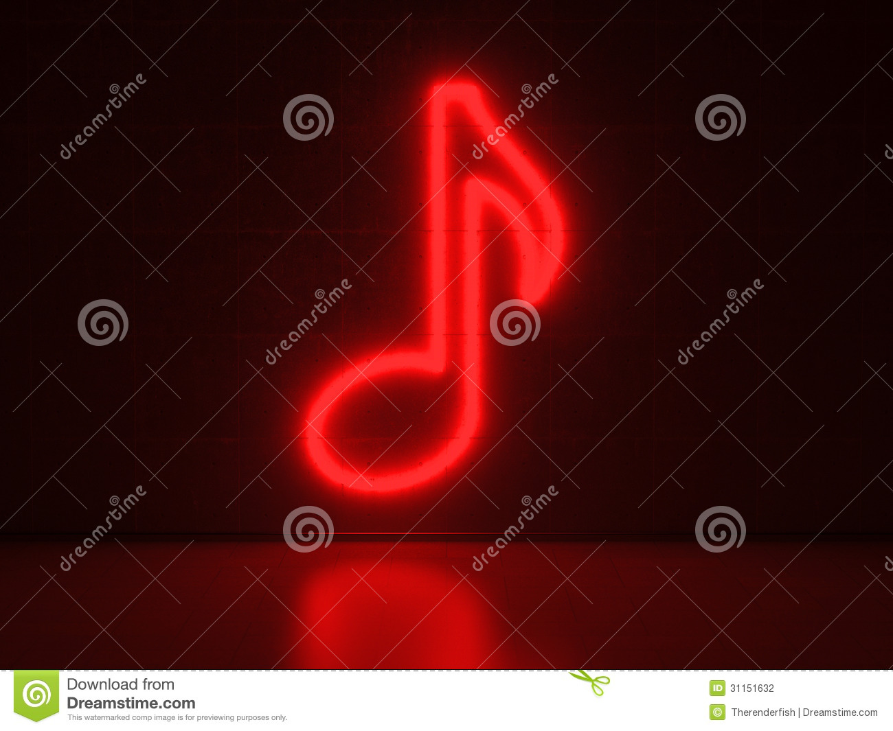 music note - series neon signs stock photography