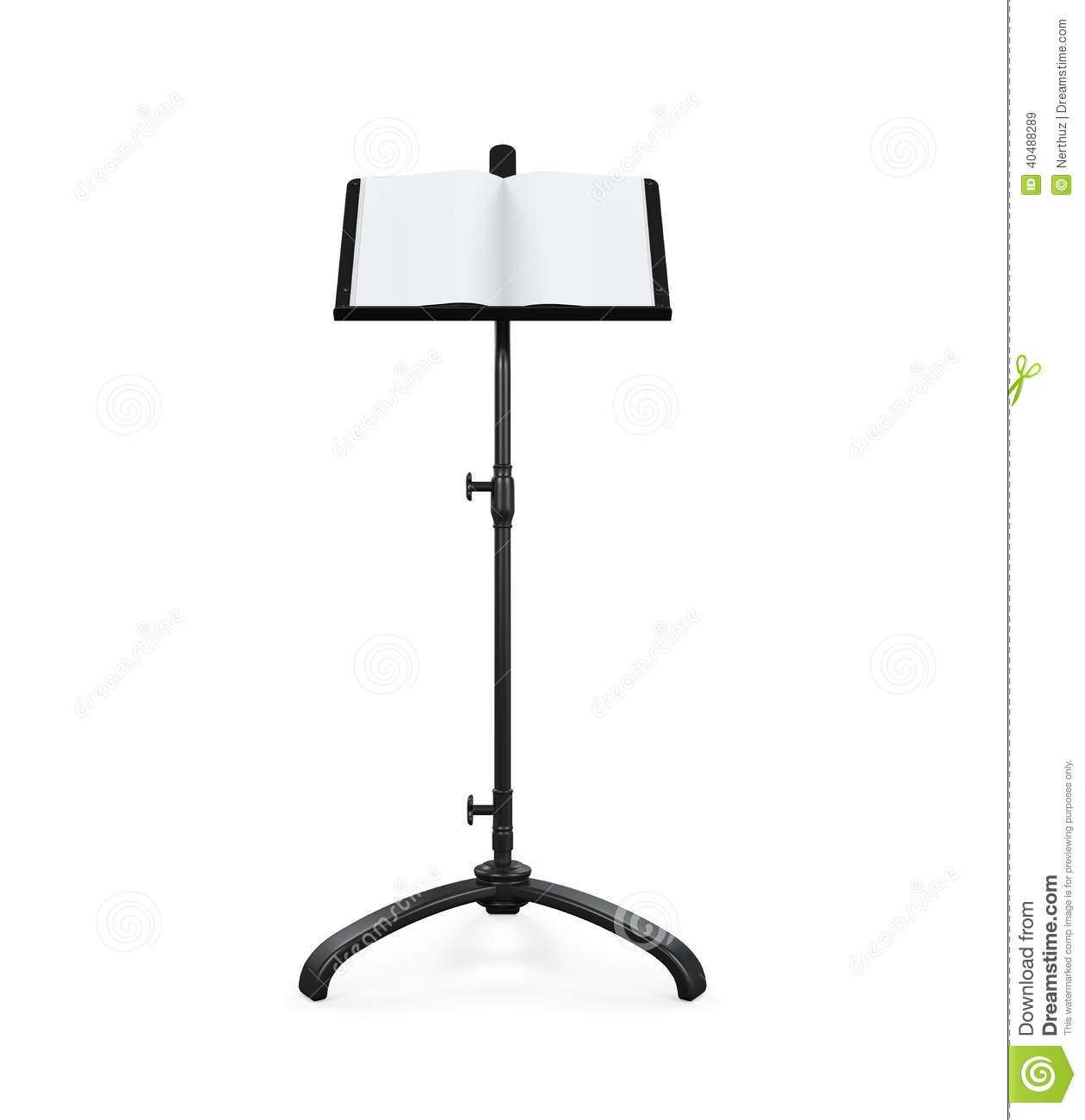 Music Note Stand Stock Illustration Image 40488289