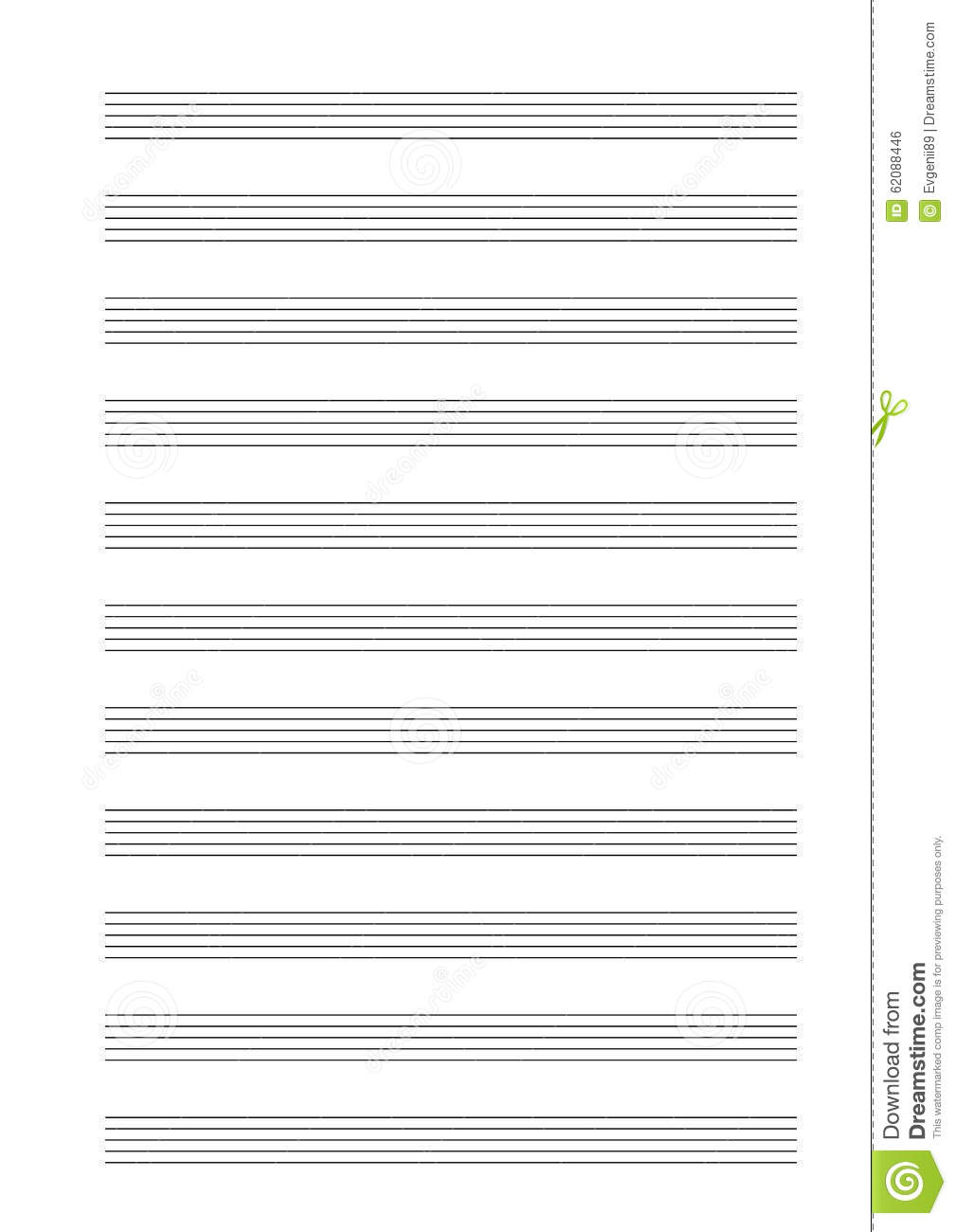 music note stave a4 sheet