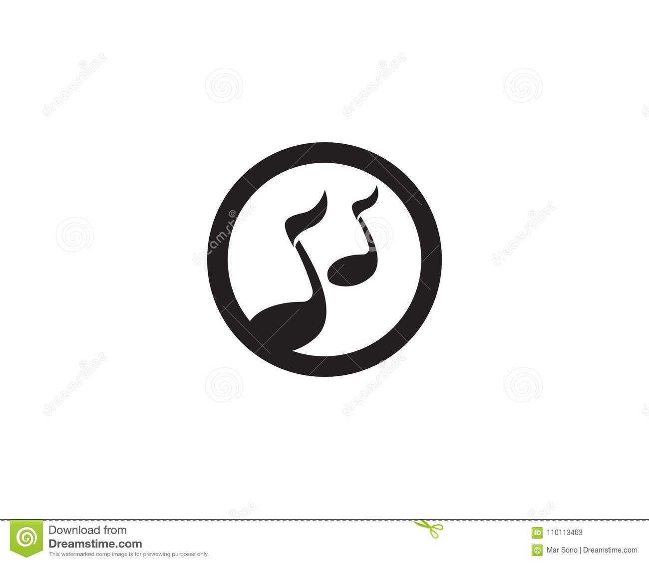 Music Note Template | Music Note Symbols Logo And Icons Template Stock Vector