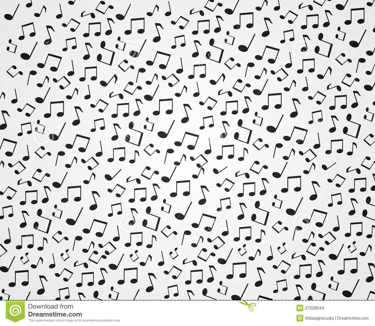 Music Note Wallpaper 2 Stock Illustration Illustration Of