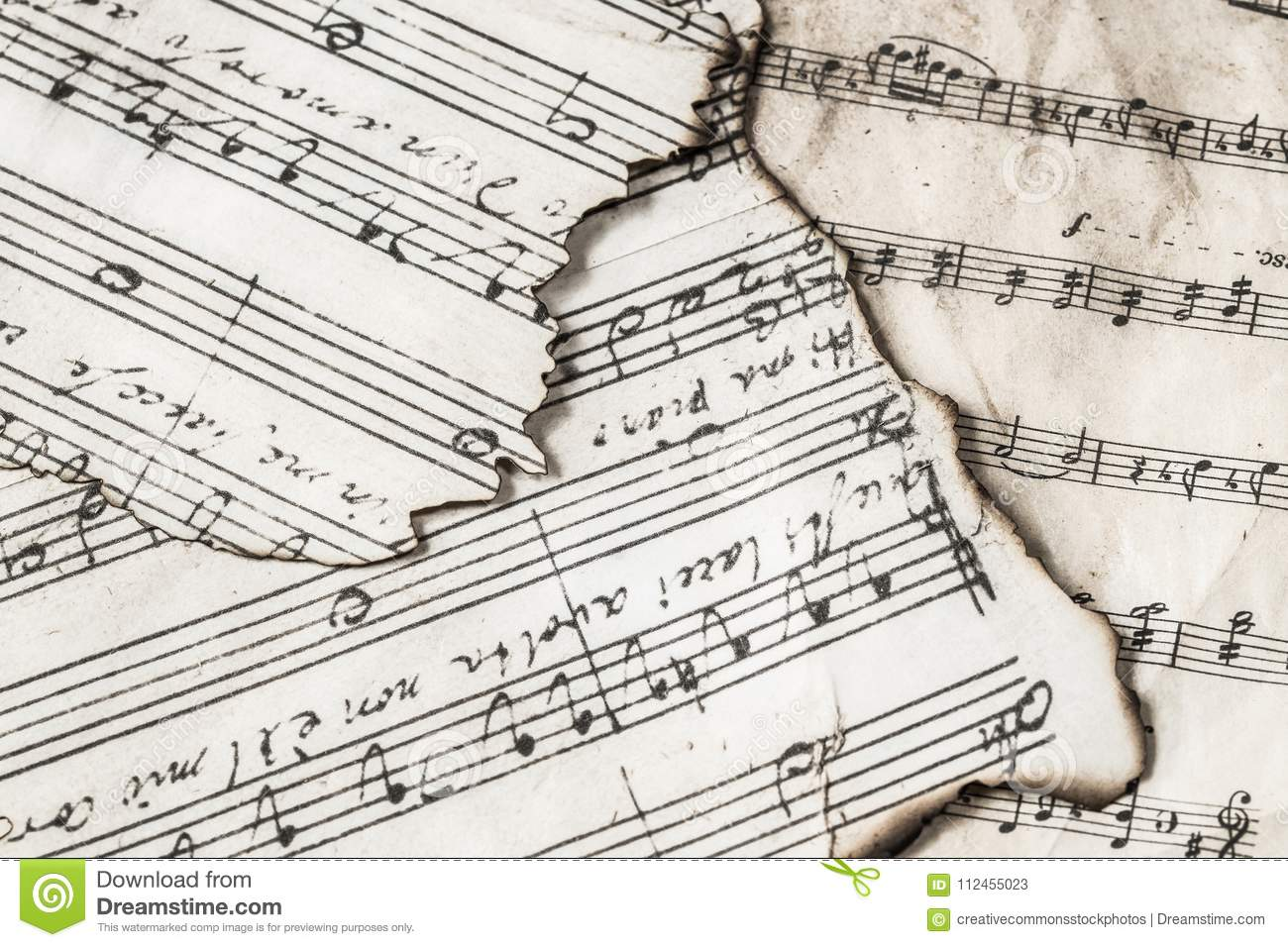 Music Notes Picture  Image: 112455023