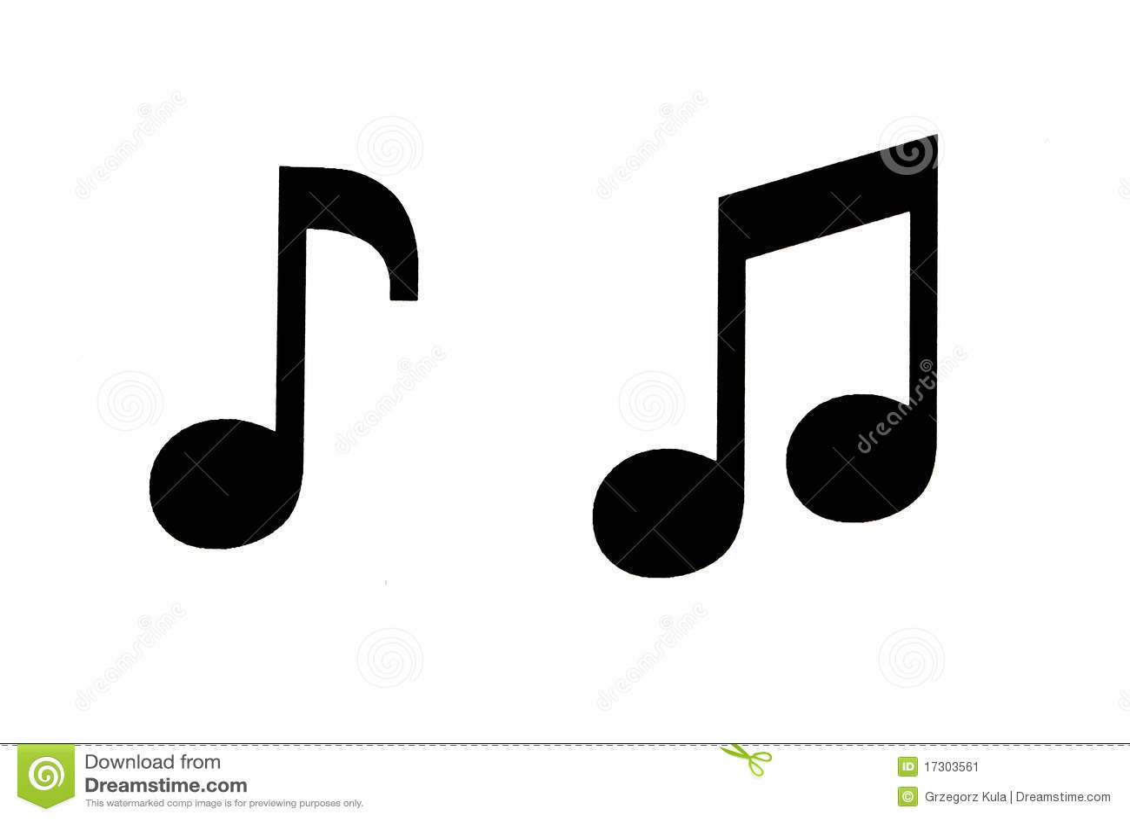 Music Notes Stock Illustration Illustration Of Symbol 17303561