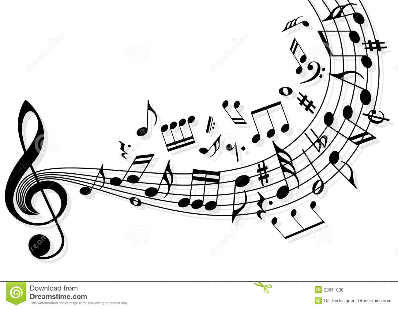 music notes stock vector illustration of banner music 20661008