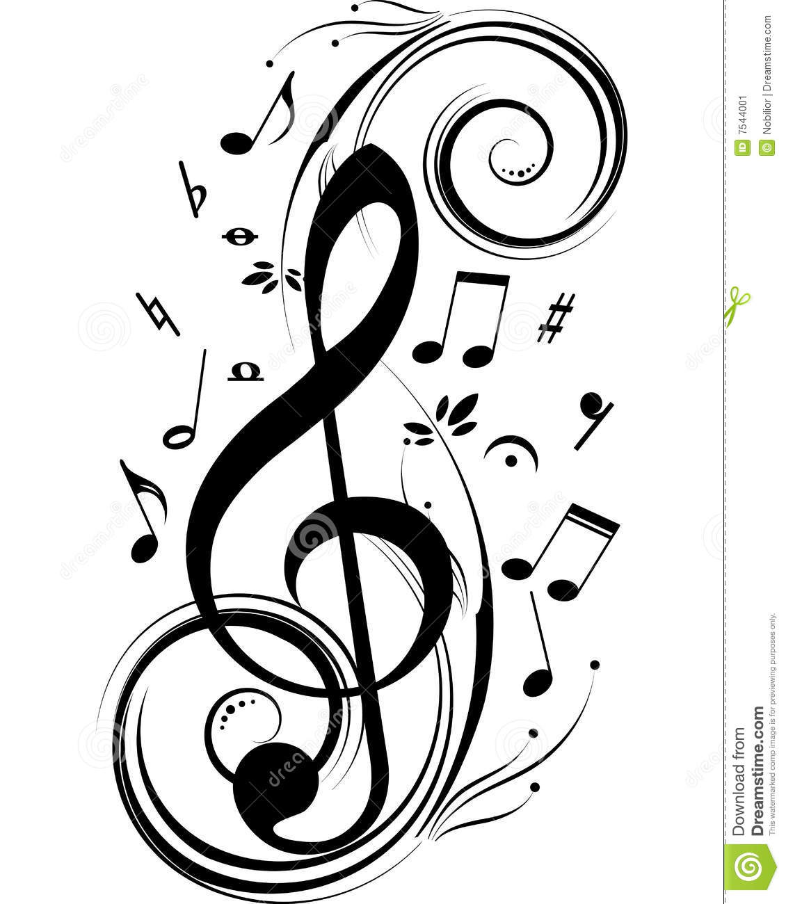 music notes stock vector illustration of color creative 7544001