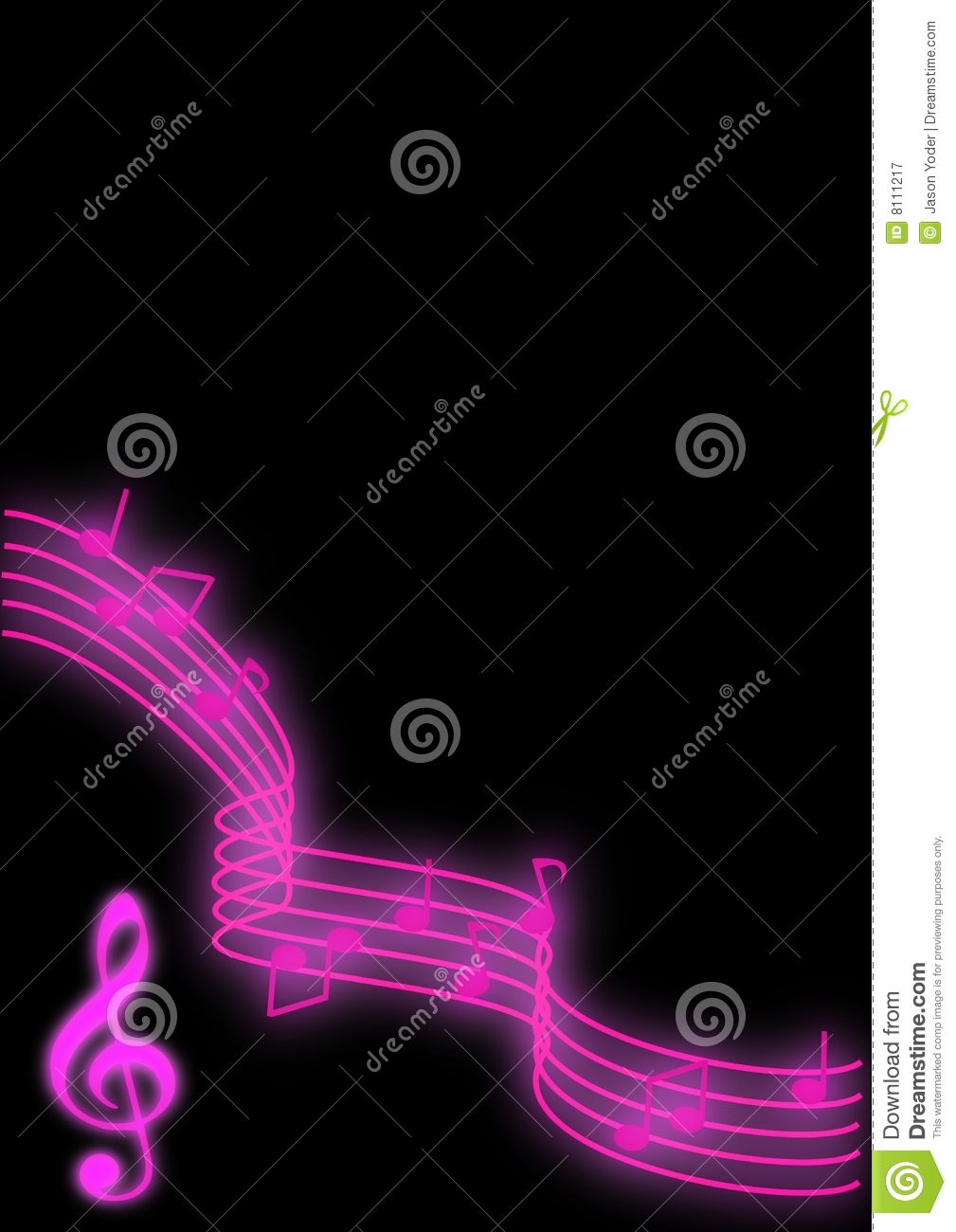 Music Notes Royalty Free Stock Photography - Image: 8111217