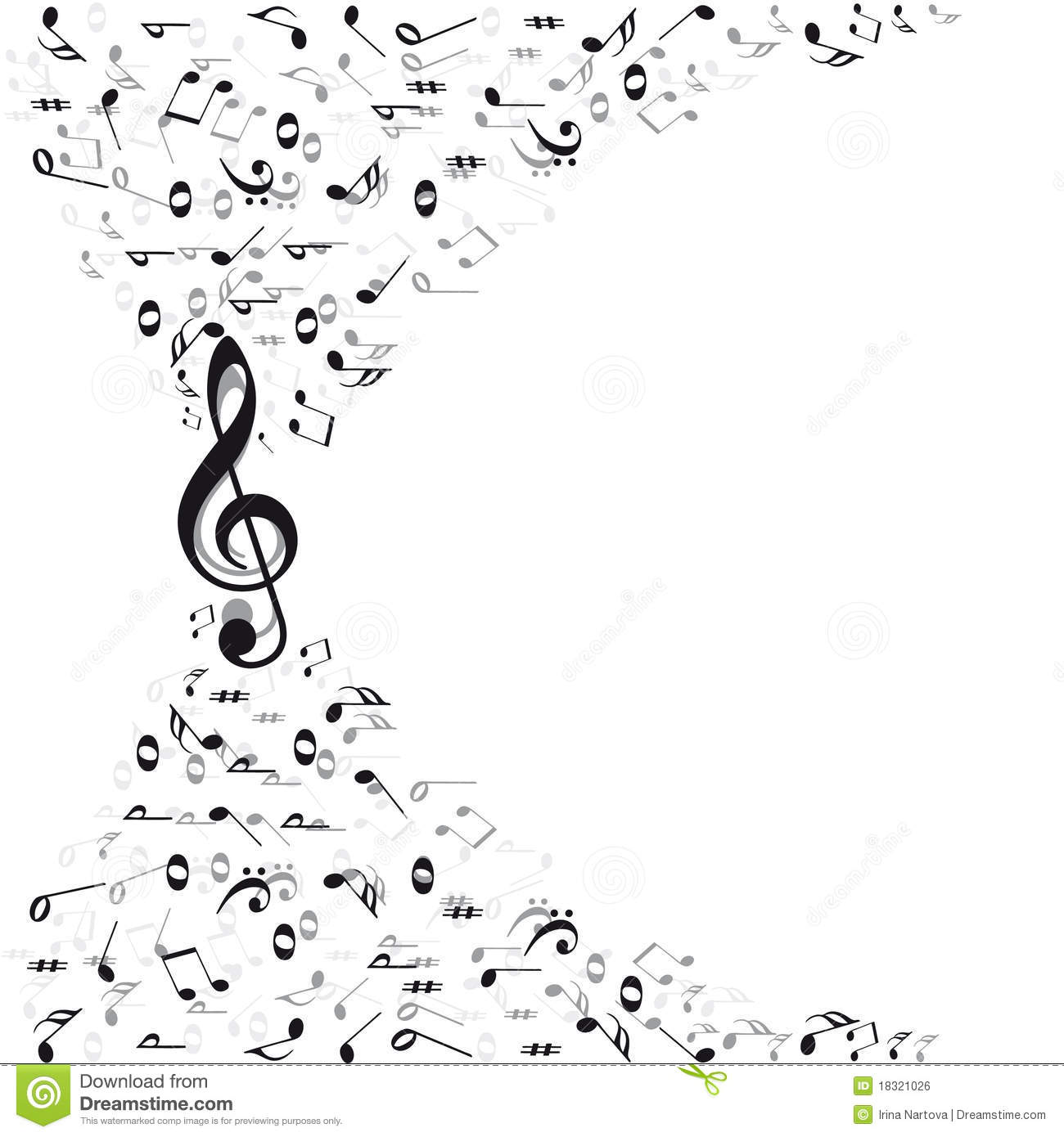 Music Notes Background Stock Vector Illustration Of Line 18636328
