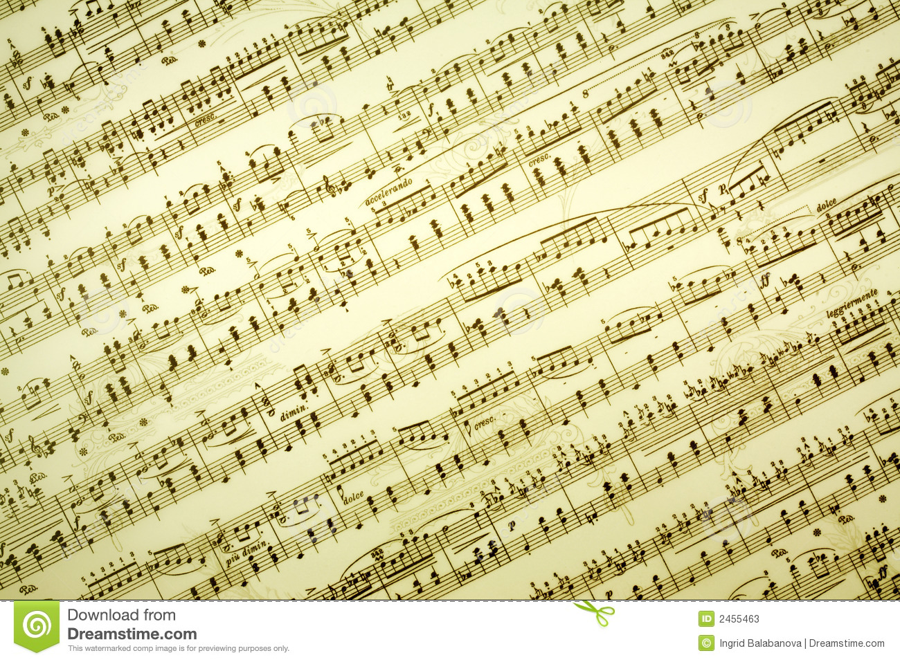 Vintage Music Note Wallpapers For Android Harmony: Music Notes Background Stock Image. Image Of Composition