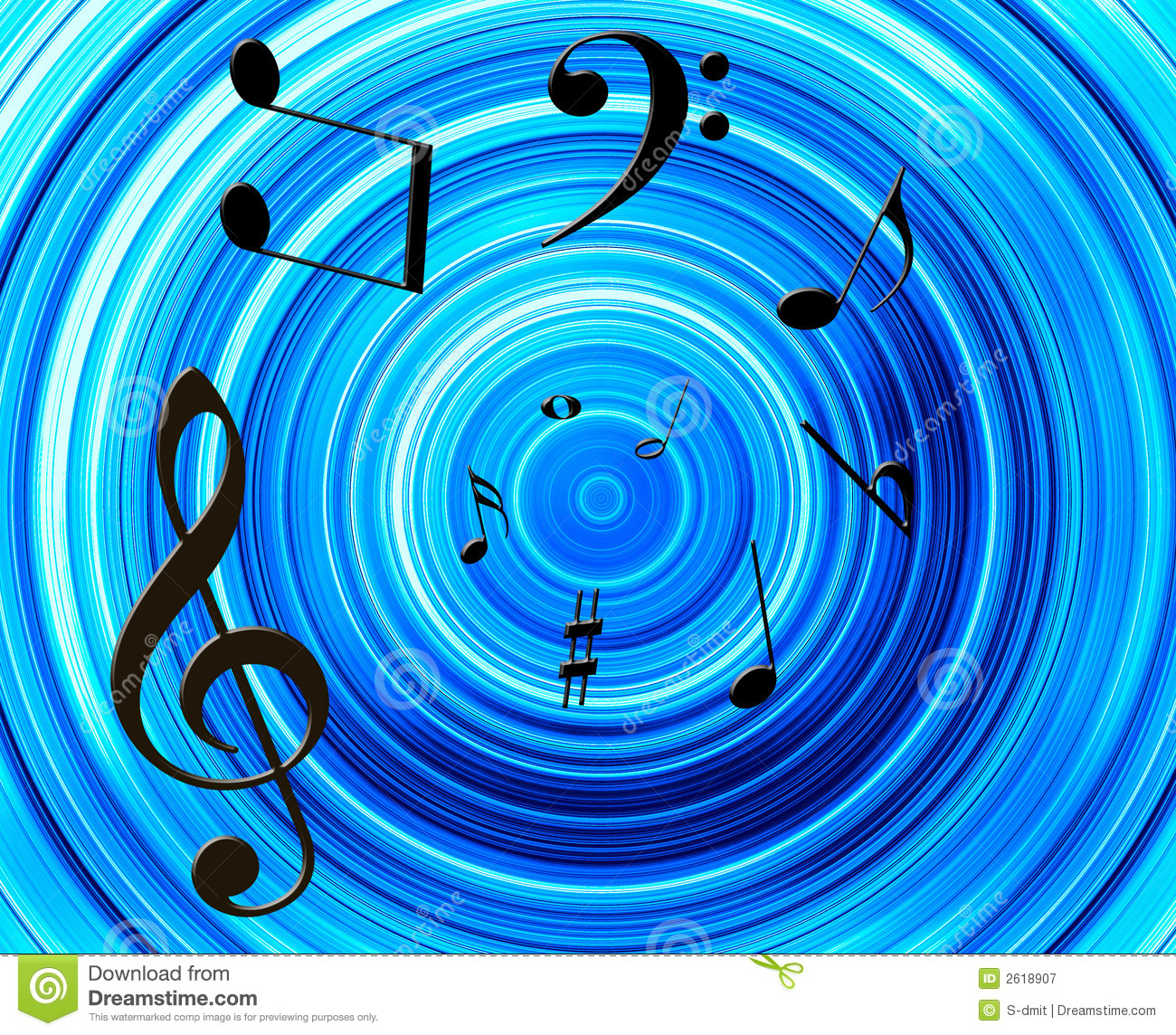 Music: Music Notes Background Royalty Free Stock Photography