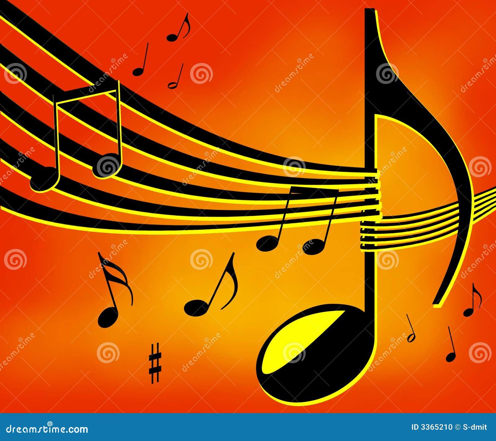 Music notes background stock illustration. Illustration of ...