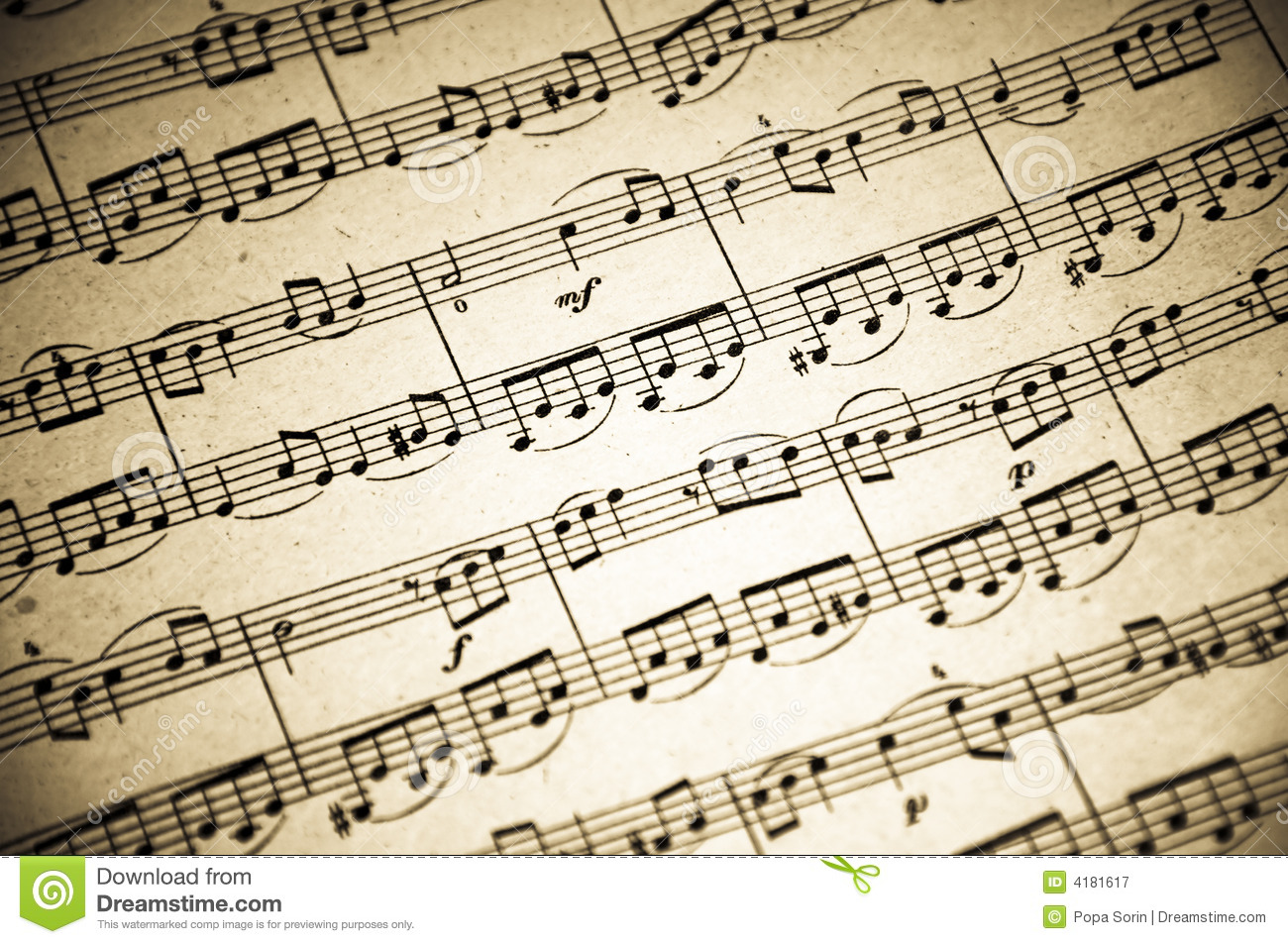 Music Notes Background Stock Image Of Compose