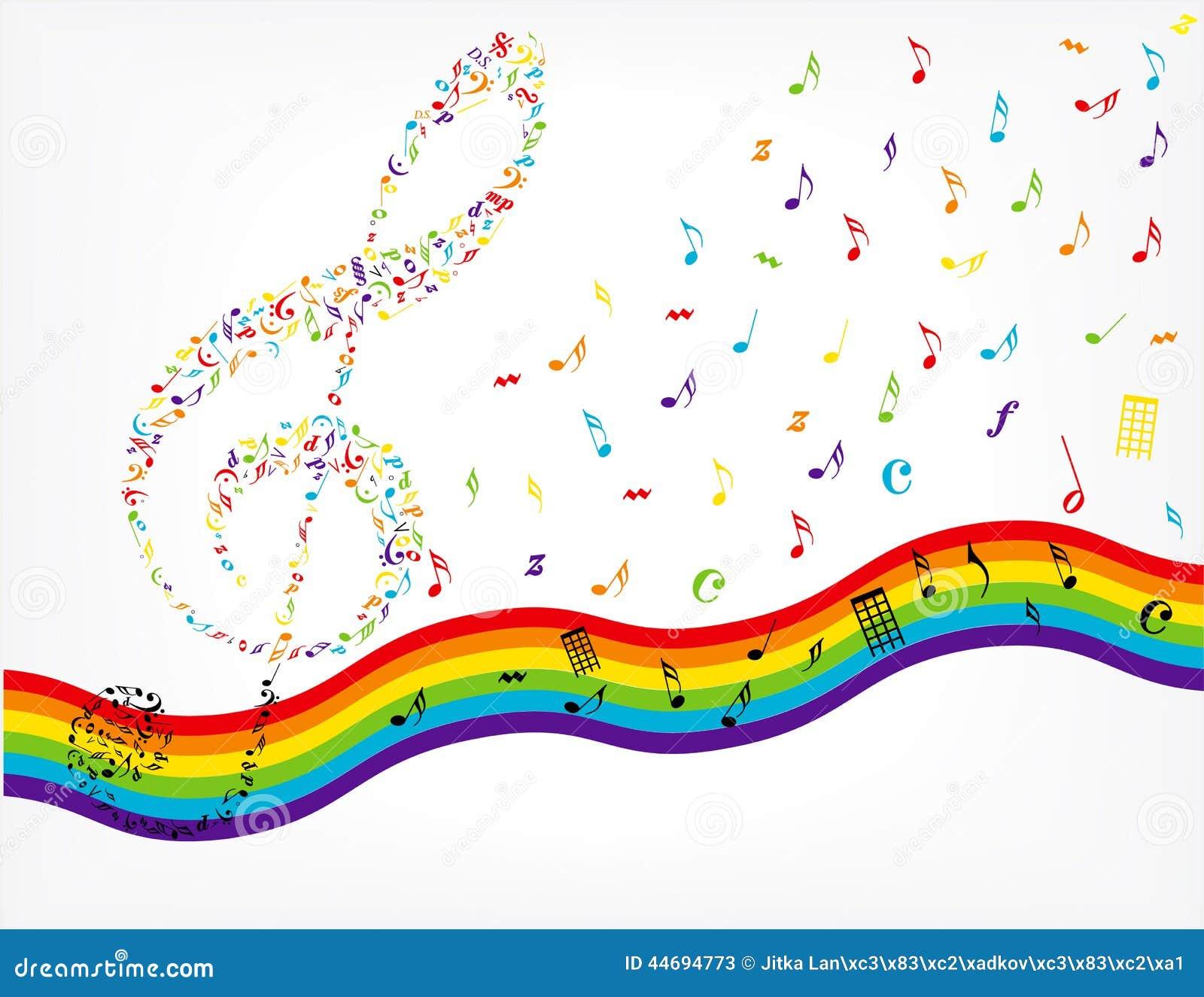 Music Notes Background Stock Illustration - Image: 44694773