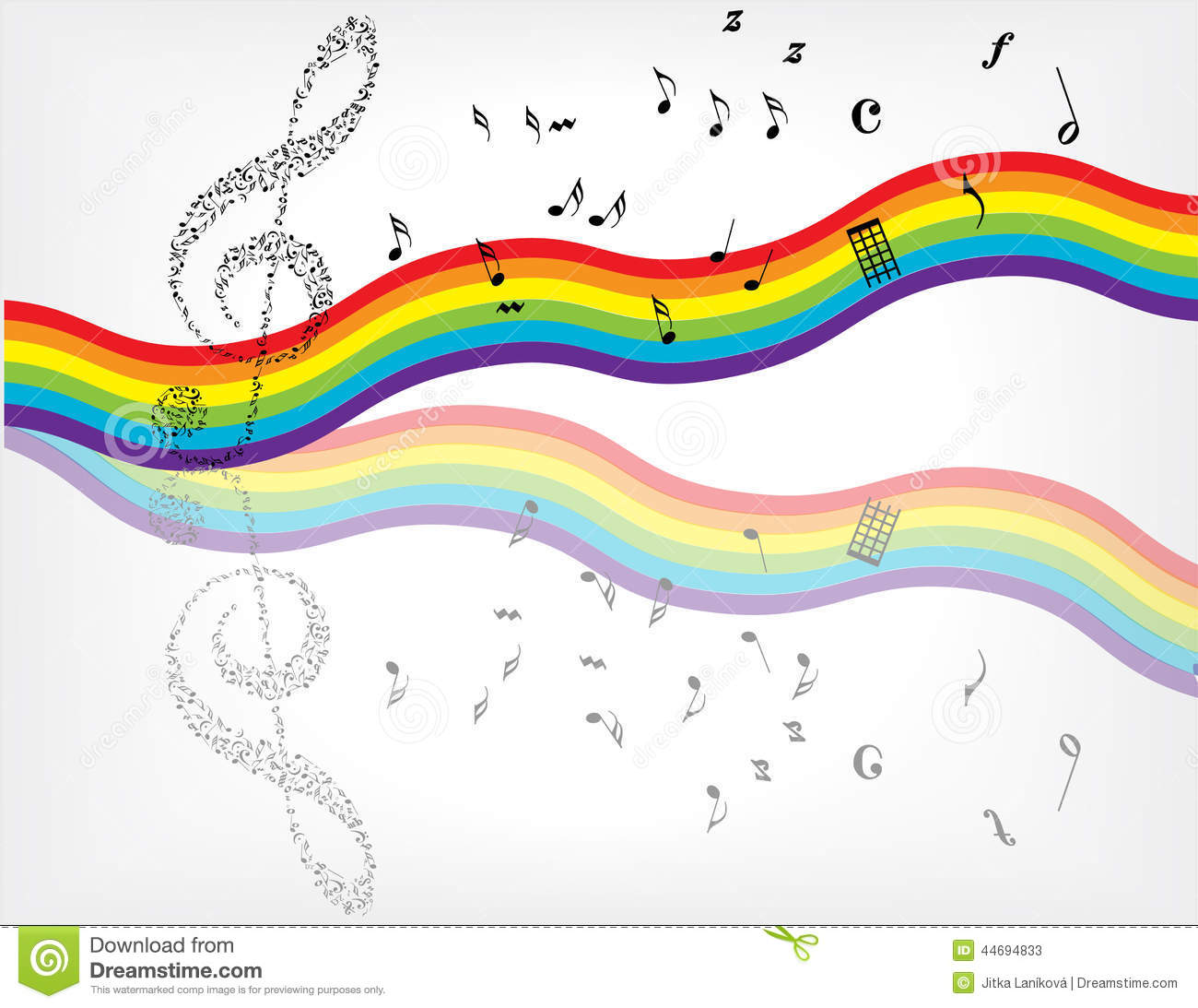 Music Notes Background Stock Vector - Image: 44694833