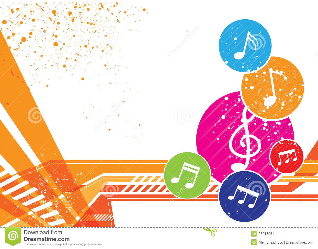 Music Notes Background Design Stock Images - Image: 26017064