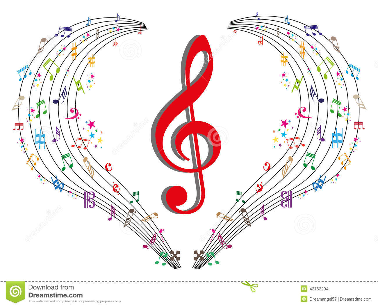 Music Notes Stock Vector Image 43763204