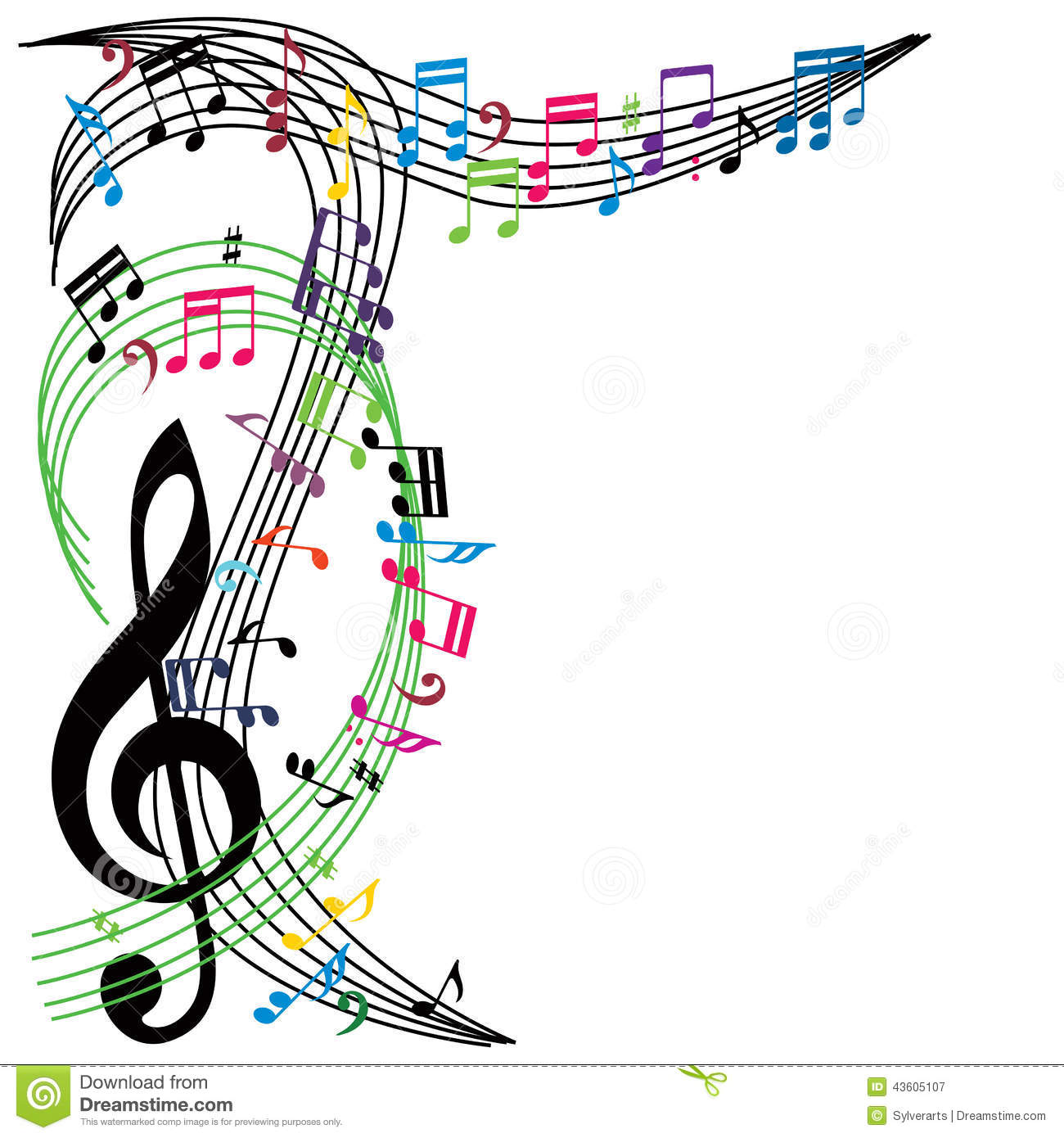 Music notes background stylish musical theme composition for The craft of musical composition